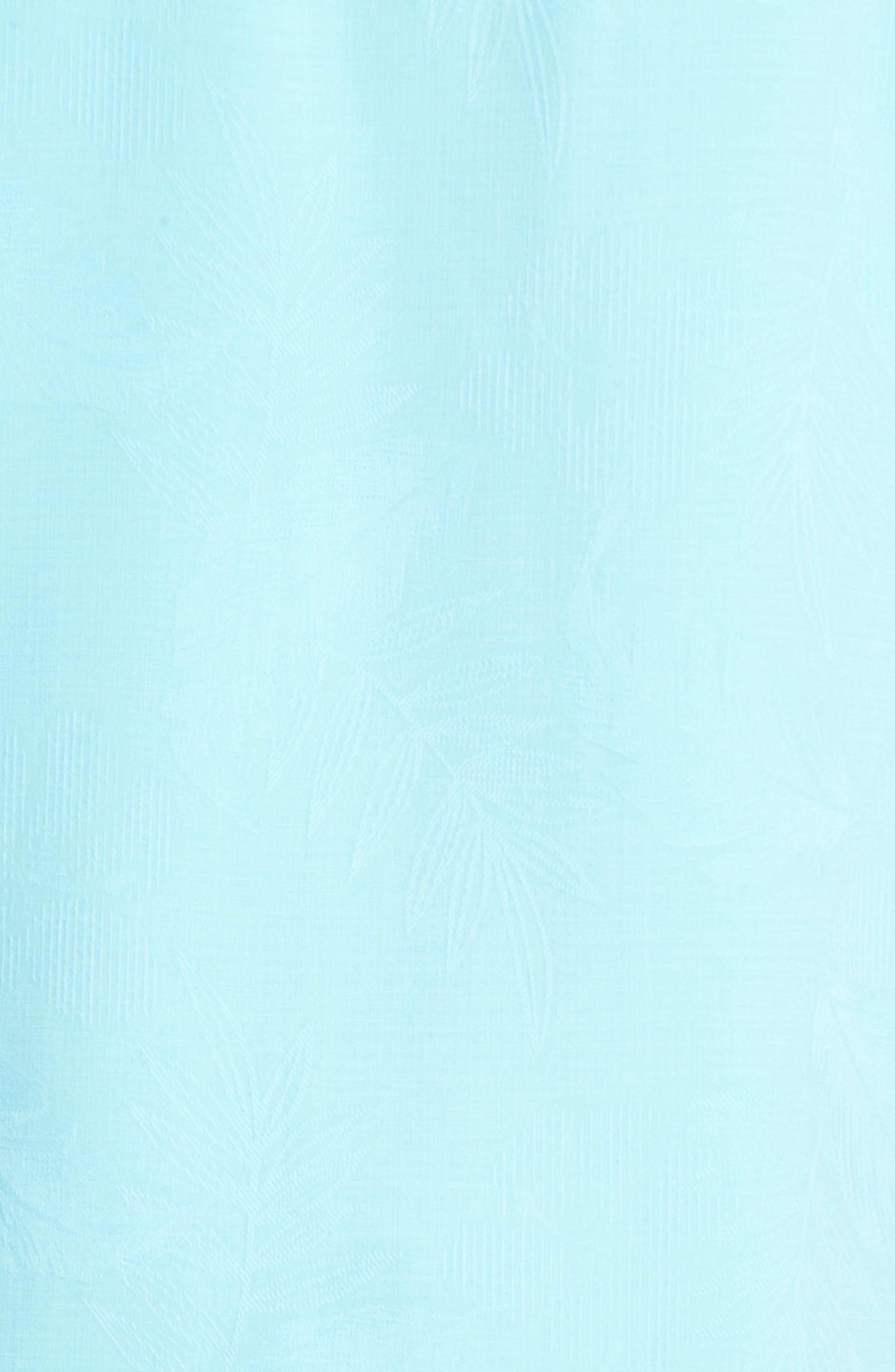 Rio Fronds Short Sleeve Silk Sport Shirt,                             Alternate thumbnail 80, color,
