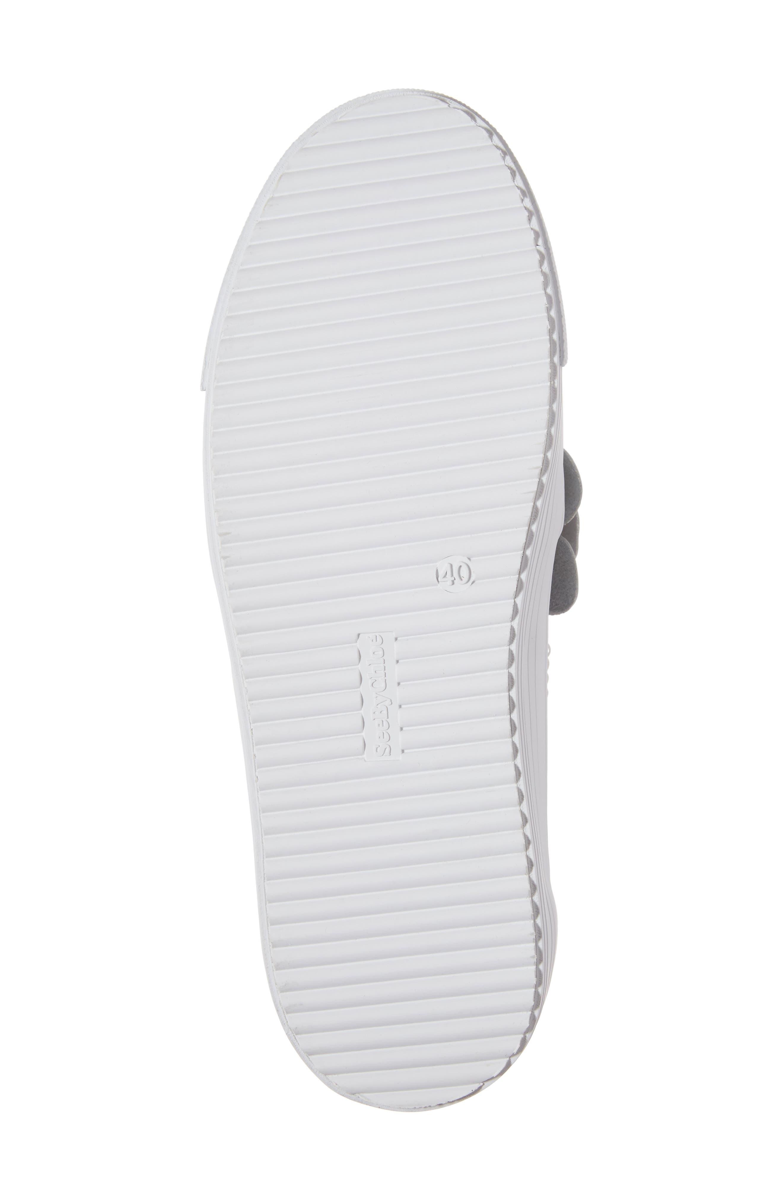 Vera Floral Appliqué Slip-On Sneaker,                             Alternate thumbnail 6, color,                             WHITE