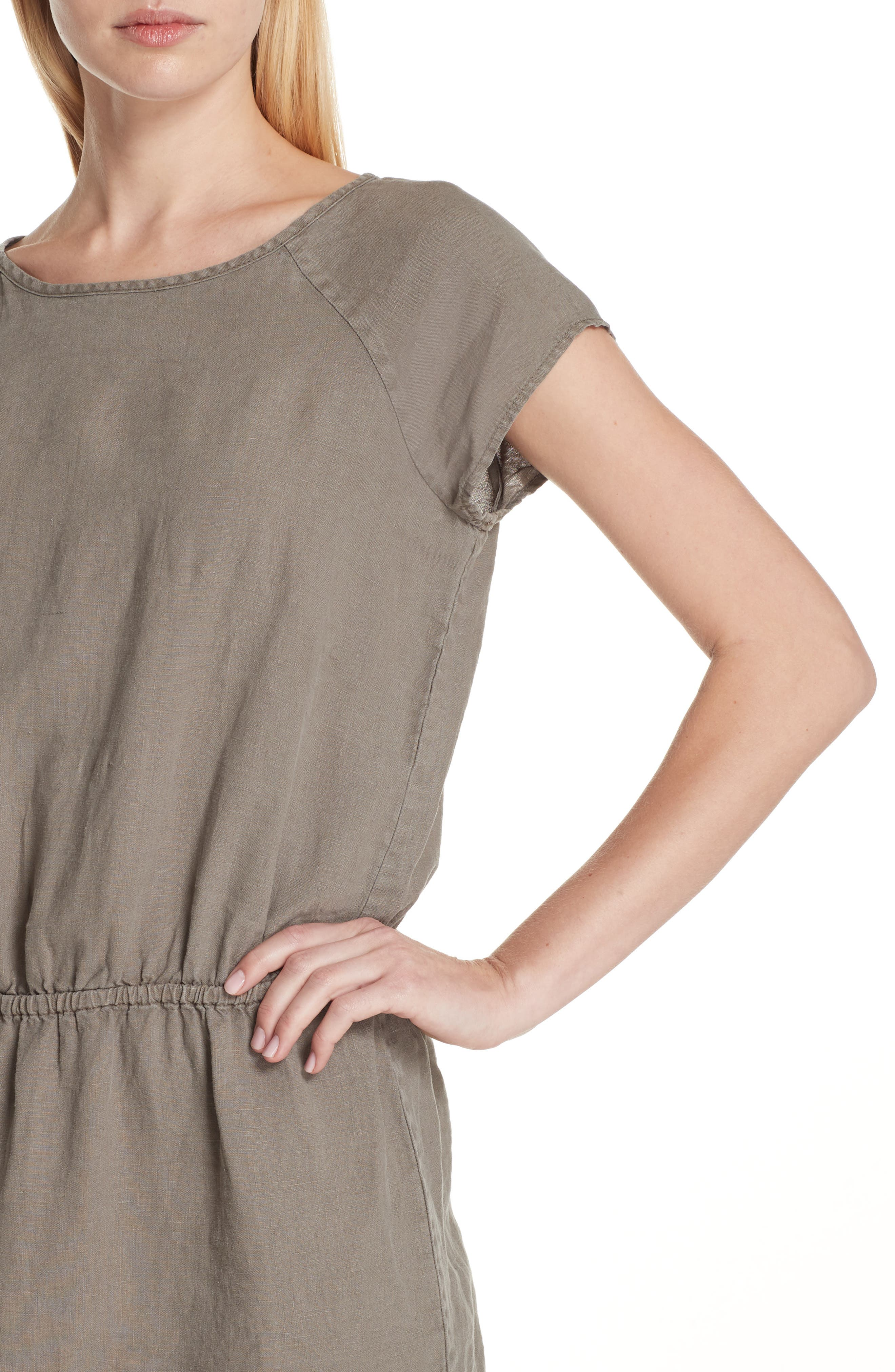 Quora Ruffle Linen Dress,                             Alternate thumbnail 8, color,
