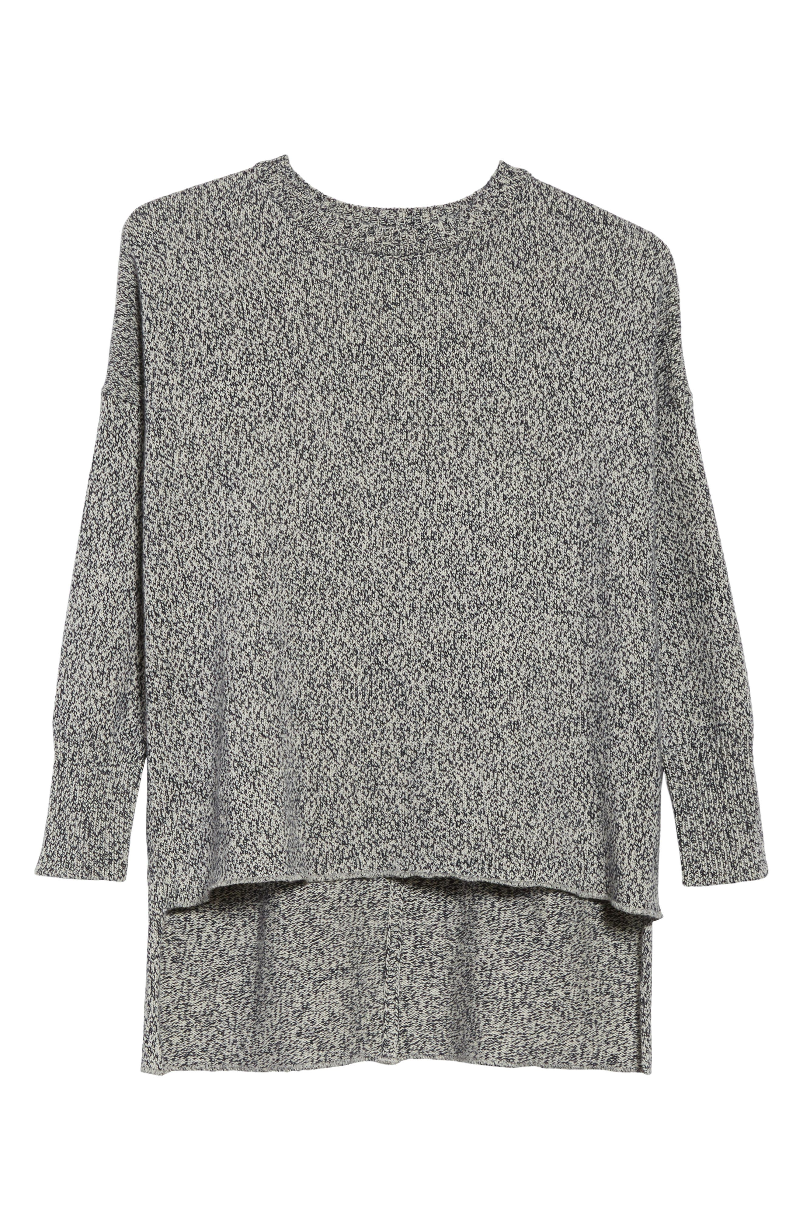 Marled Cotton, Cashmere & Silk Sweater,                             Alternate thumbnail 6, color,                             020