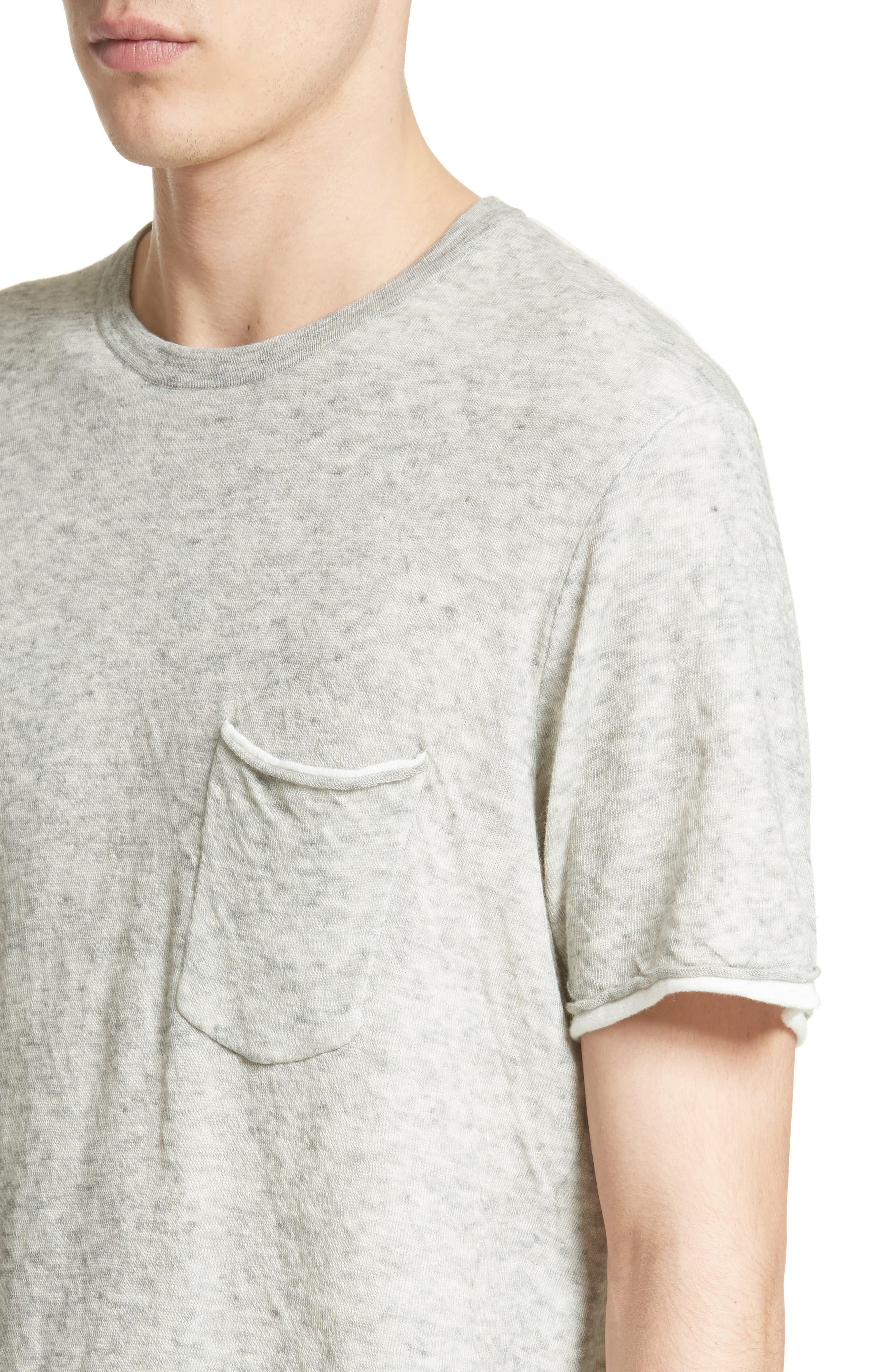 Tripp Cotton & Wool T-Shirt,                             Alternate thumbnail 4, color,                             068