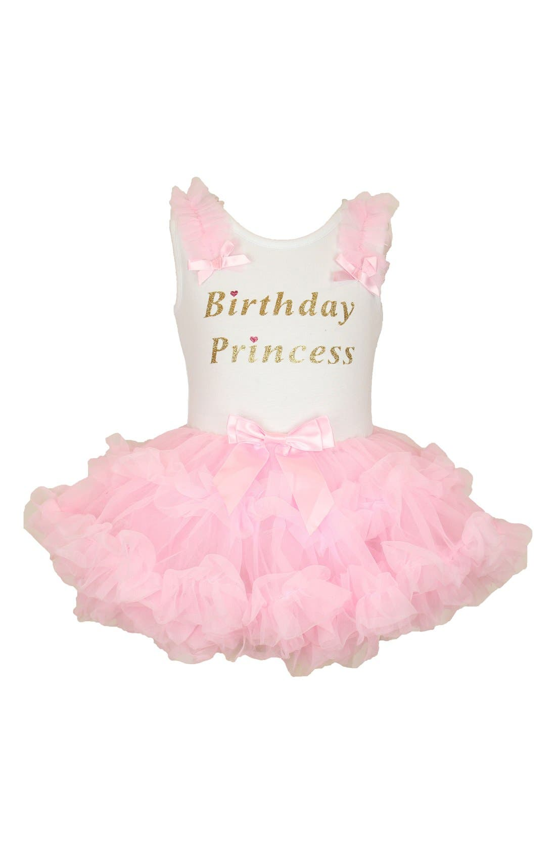 Birthday Princess Tutu Dress,                         Main,                         color, PINK