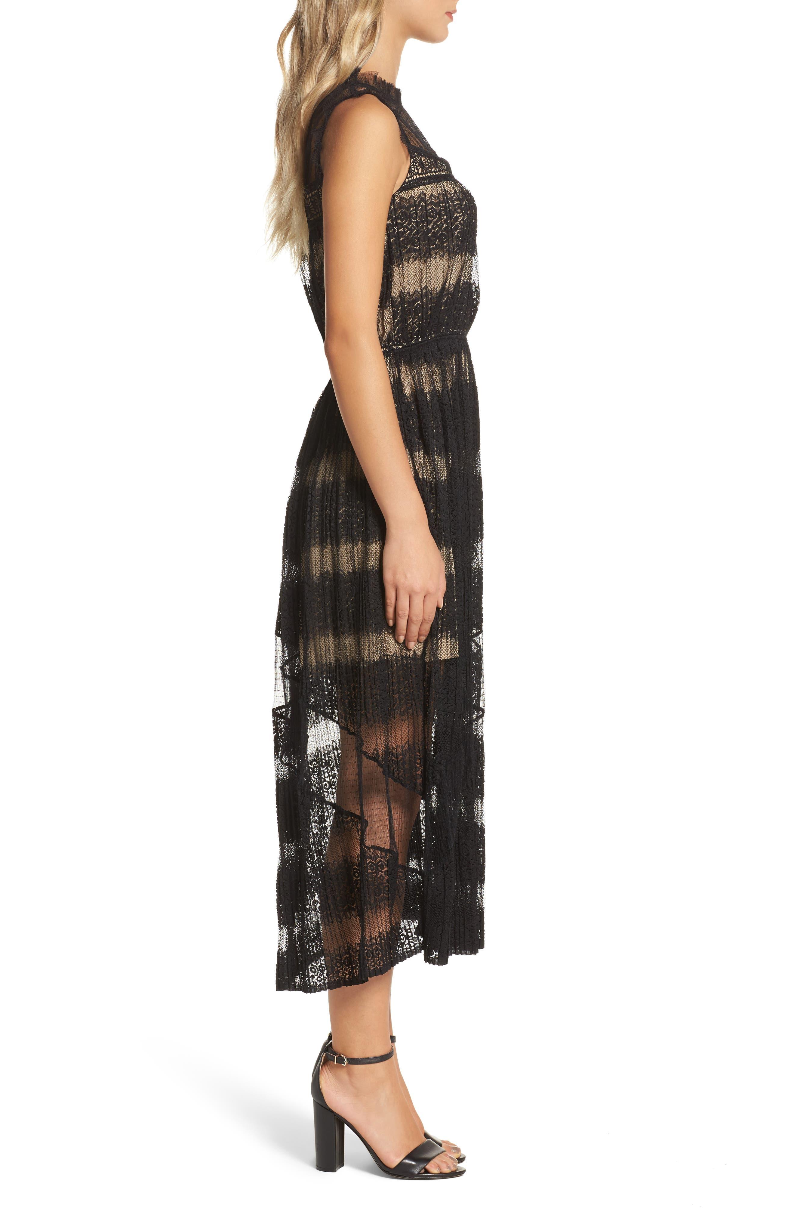 Mixed Media Dress,                             Alternate thumbnail 3, color,