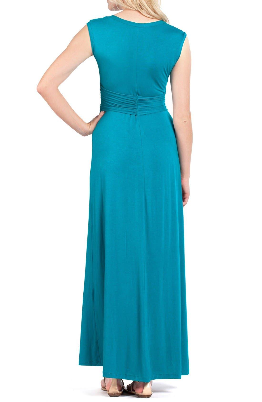 Athens Maternity/Nursing Maxi Dress,                             Alternate thumbnail 3, color,                             JADE