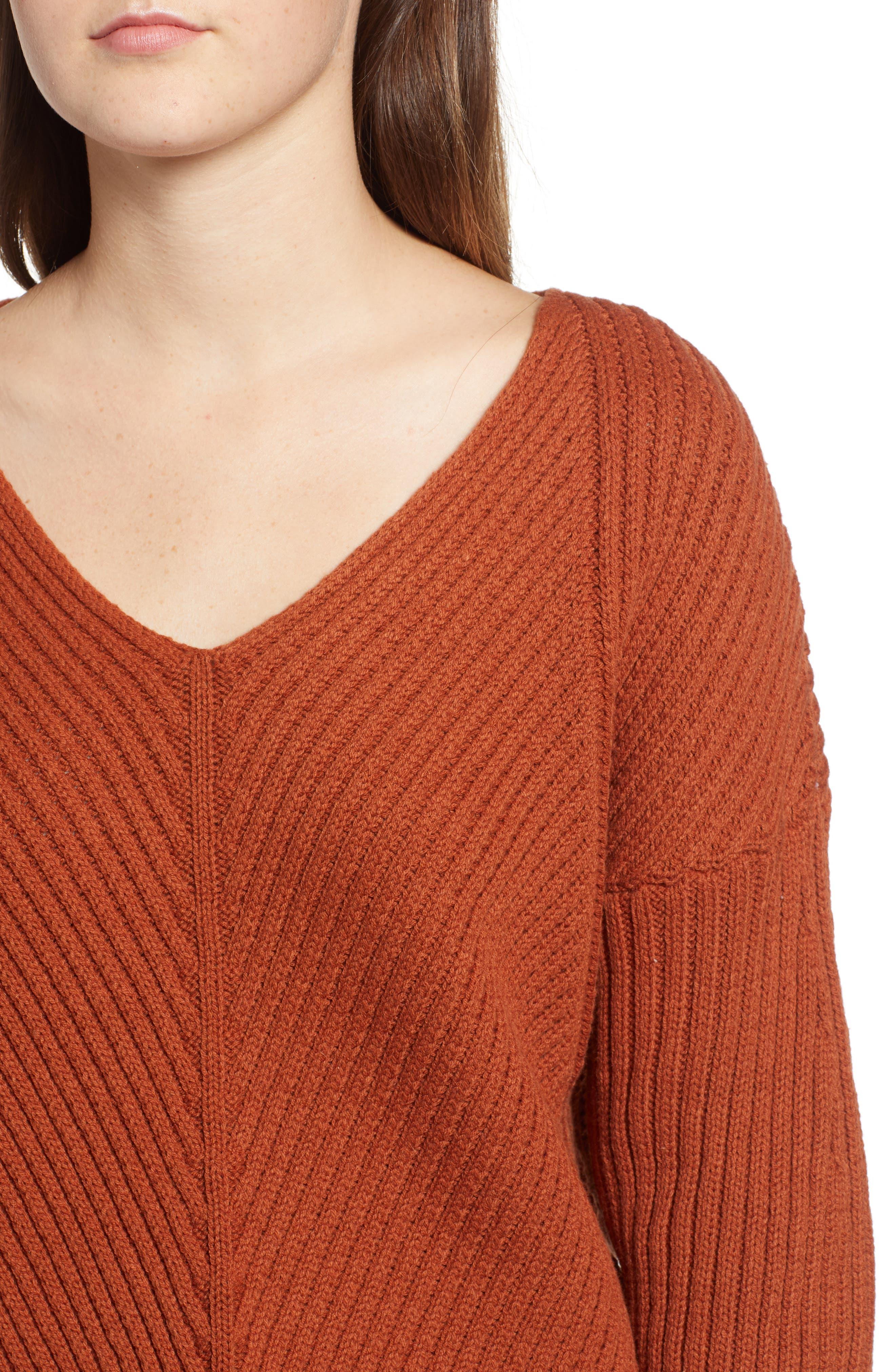 Eleanor Rib Knit Sweater,                             Alternate thumbnail 4, color,                             200