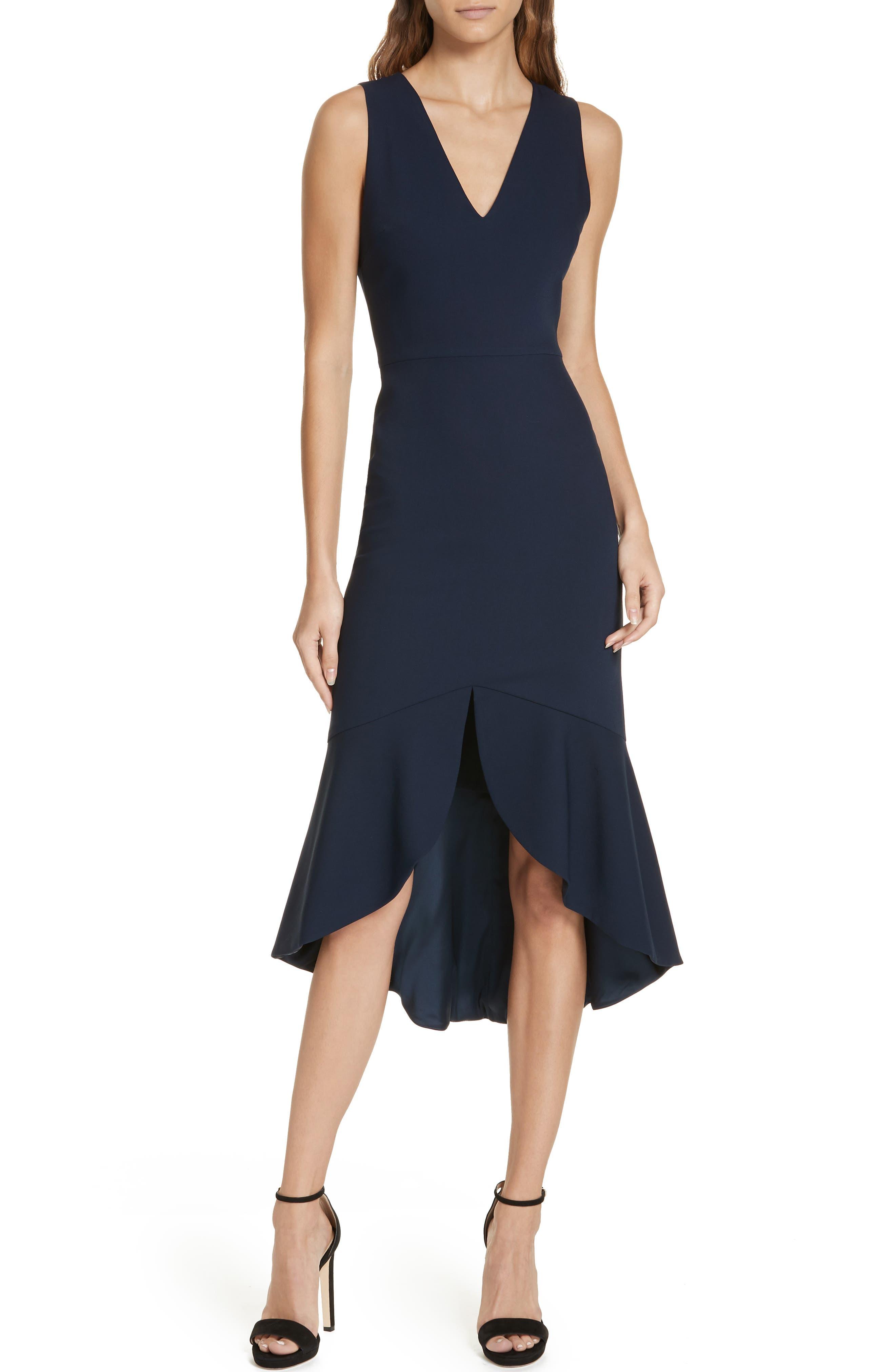 Alice + Olivia Blakesley Split Front Fit & Flare Dress