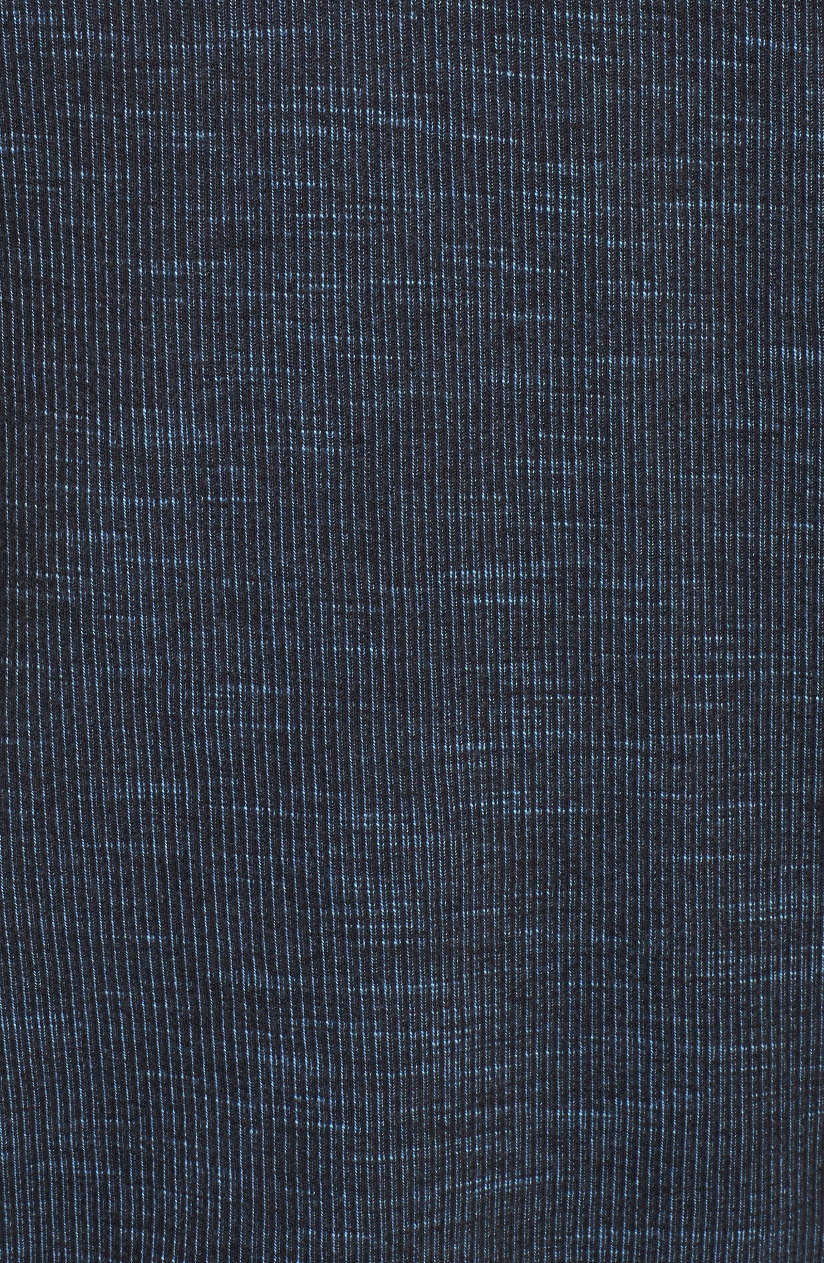Flipsider Reversible Quarter-Zip Pullover,                             Alternate thumbnail 6, color,                             JET BLACK