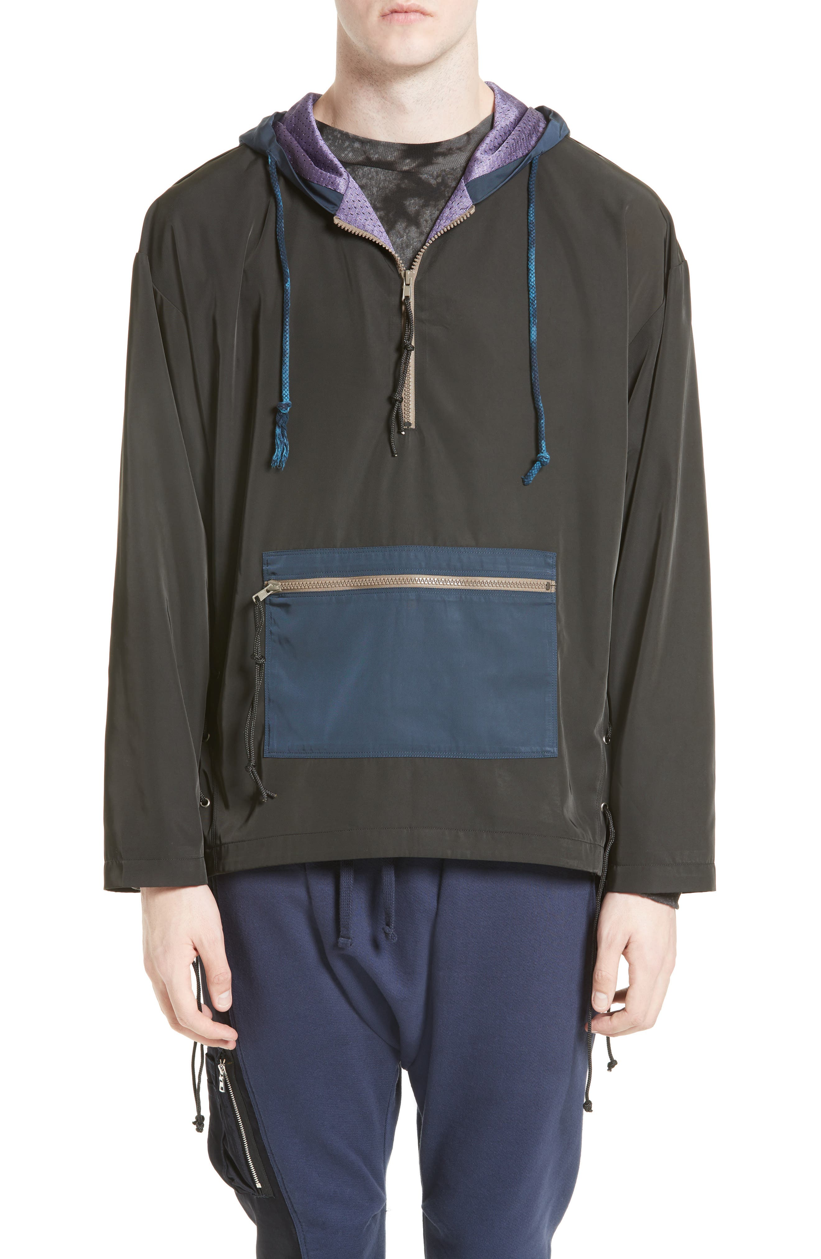 Brooks Side Lace Hooded Jacket,                             Main thumbnail 1, color,                             001