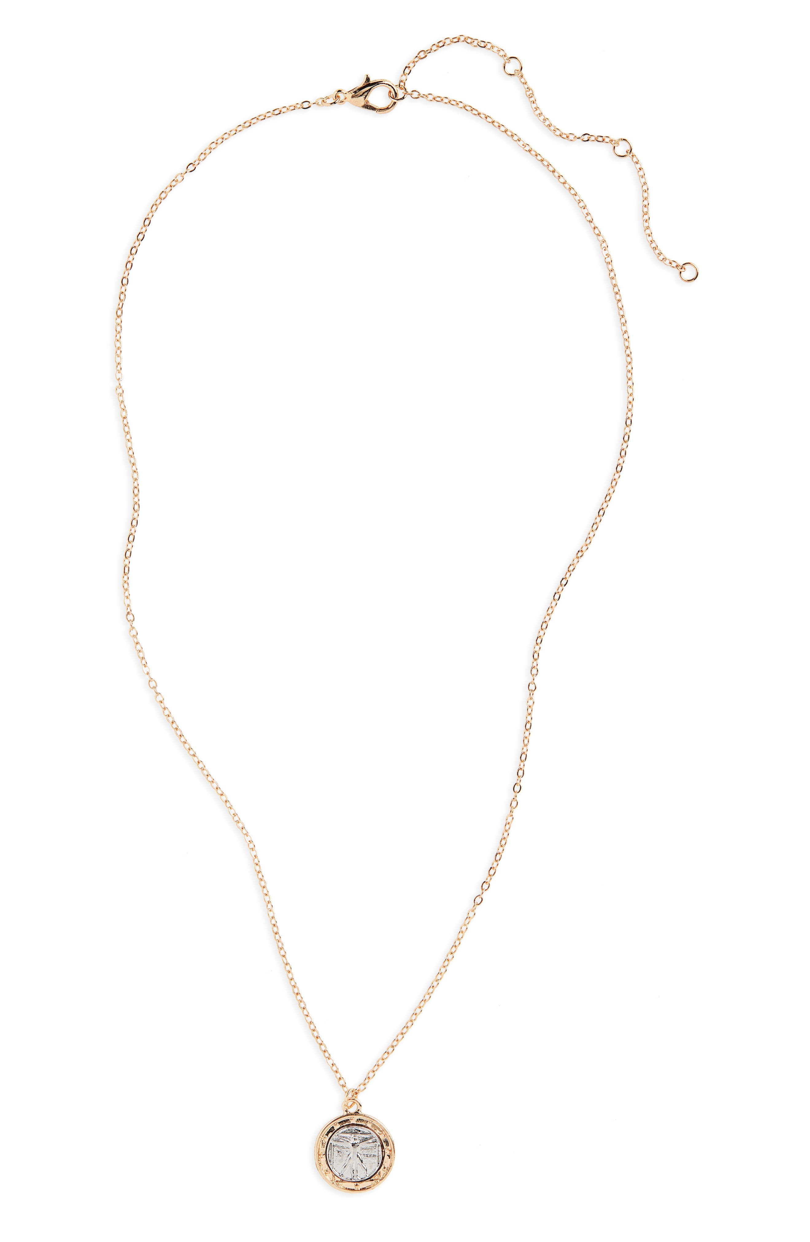 Form Charm Necklace,                         Main,                         color, 710