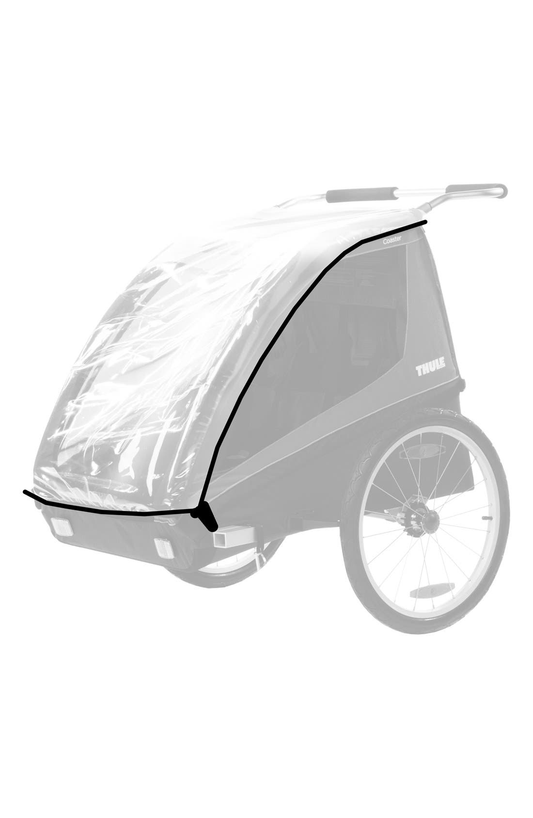 Protective Rain Cover for Coaster/Cadence Bike Trailer,                         Main,                         color, BLACK