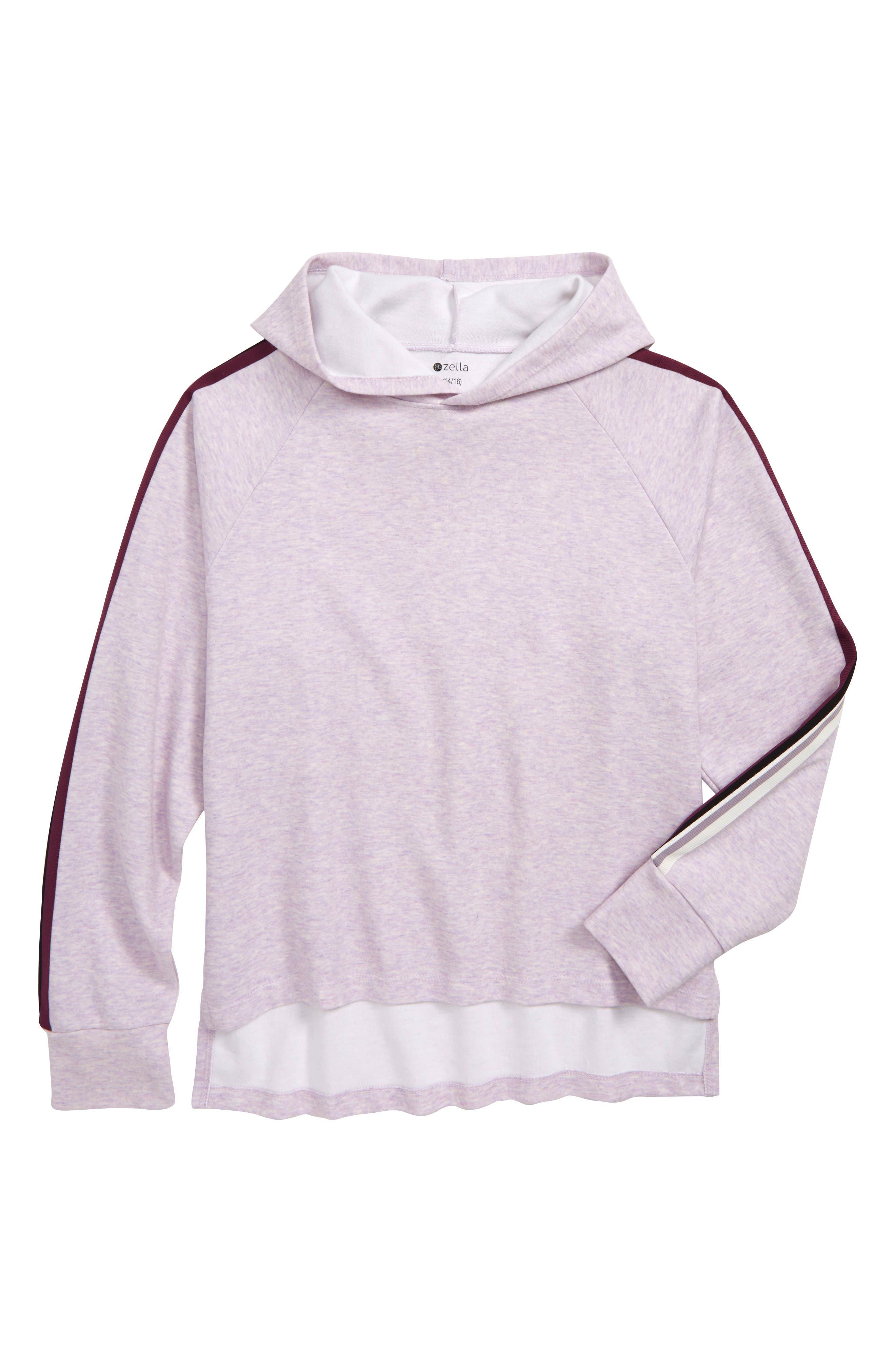 Girls Zella Girl Stripe Hooded Pullover