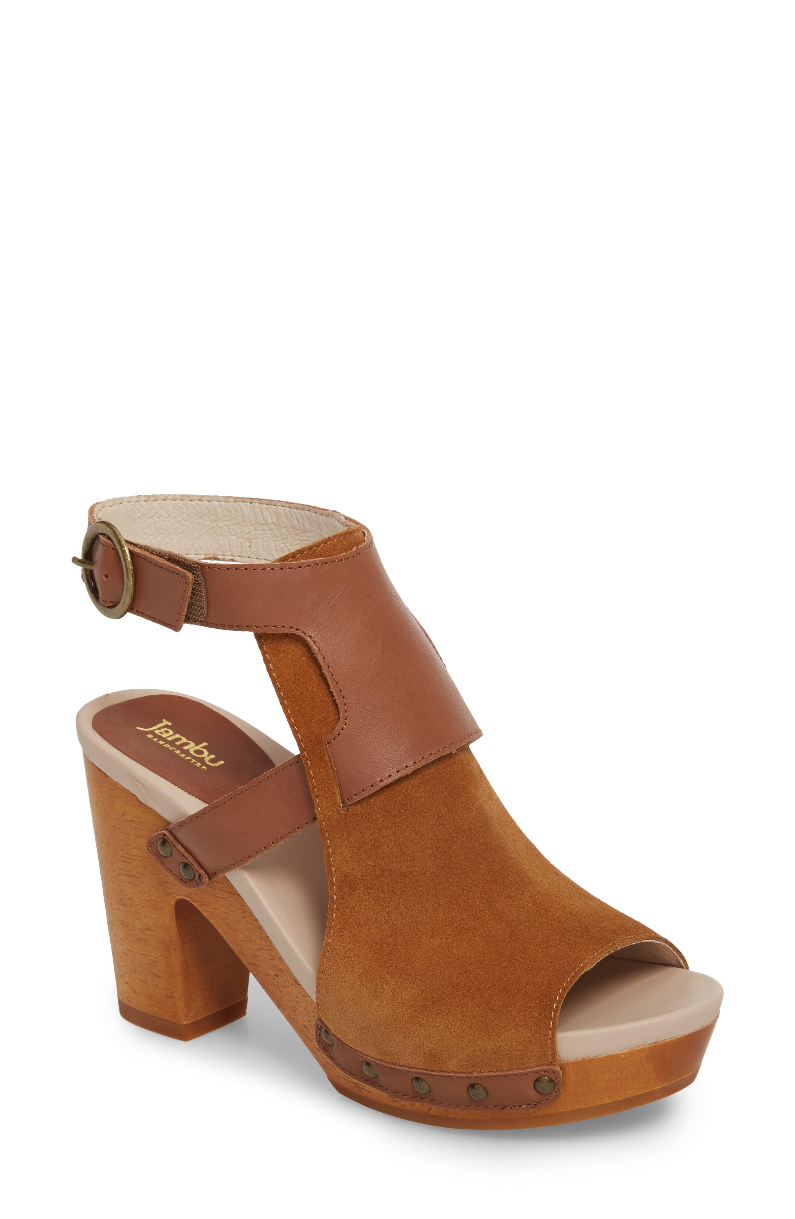 Jambu Gina Platform Sandal- Brown