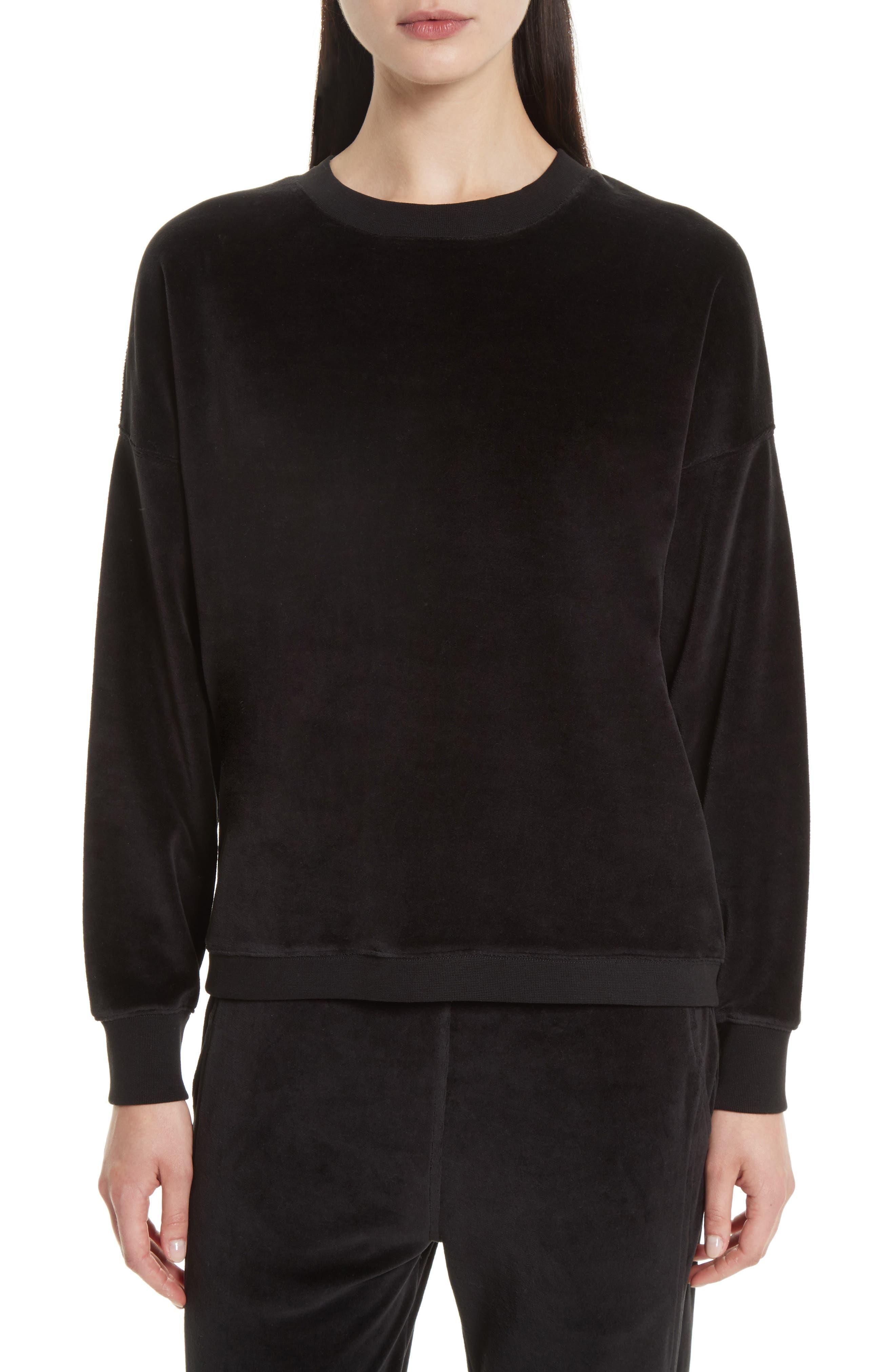 Velour Pullover,                         Main,                         color, 001