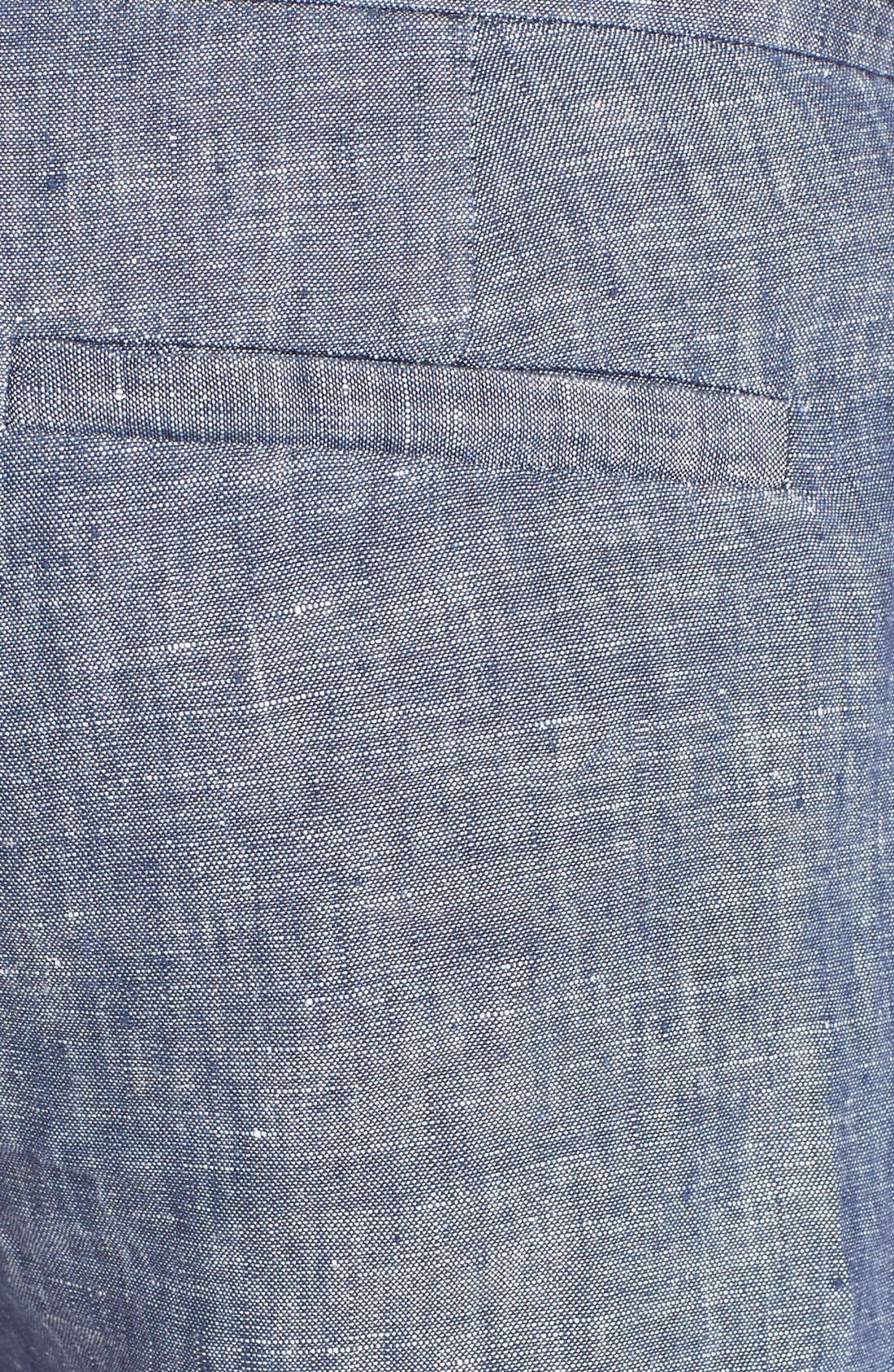 'Merci' Linen Shorts,                             Alternate thumbnail 2, color,                             418