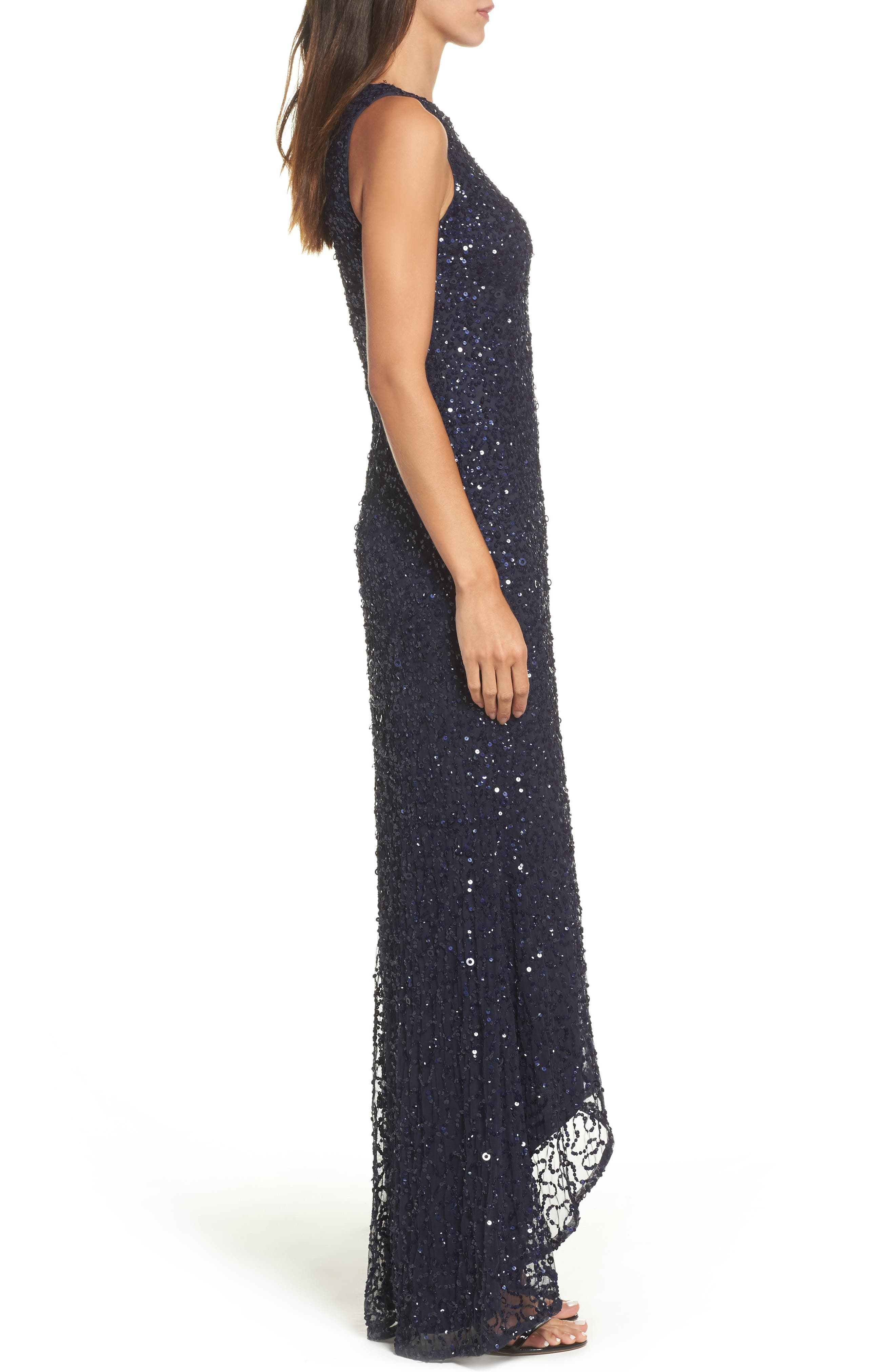 Sequin High/Low Gown,                             Alternate thumbnail 13, color,