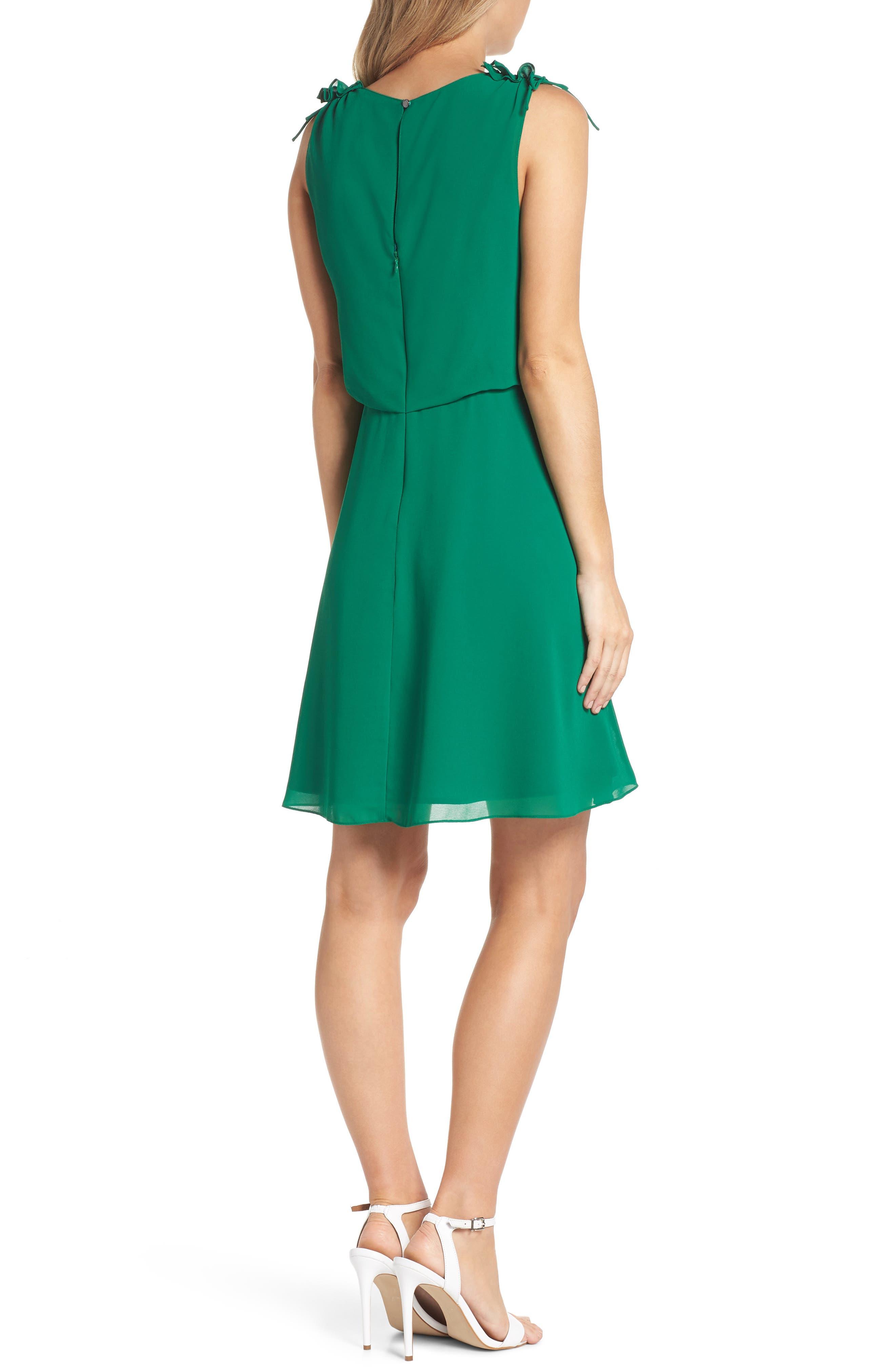 Soufflé V-Neck Chiffon Dress,                             Alternate thumbnail 2, color,                             310