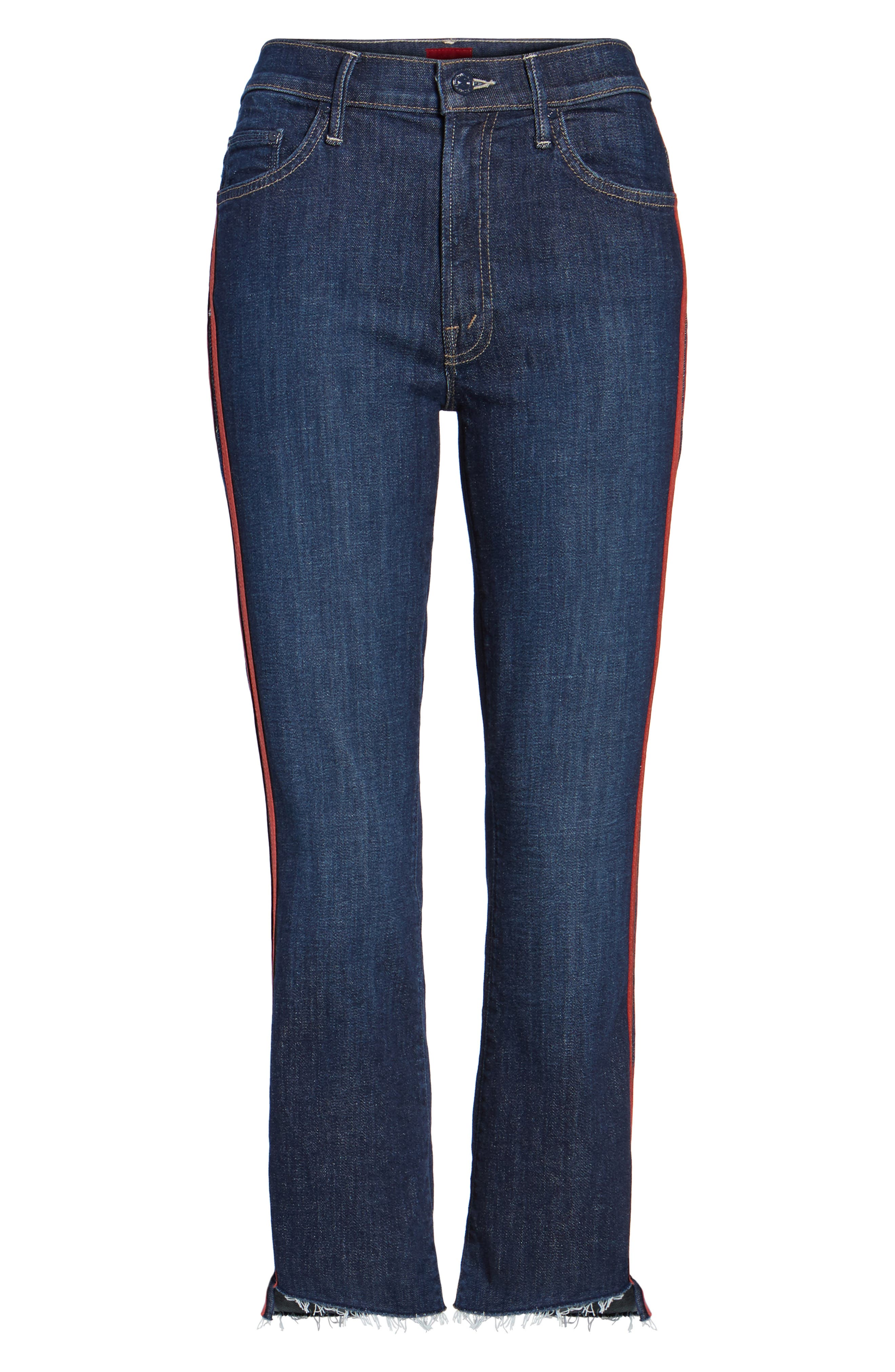 Crop Step Fray Jeans,                             Alternate thumbnail 7, color,                             402