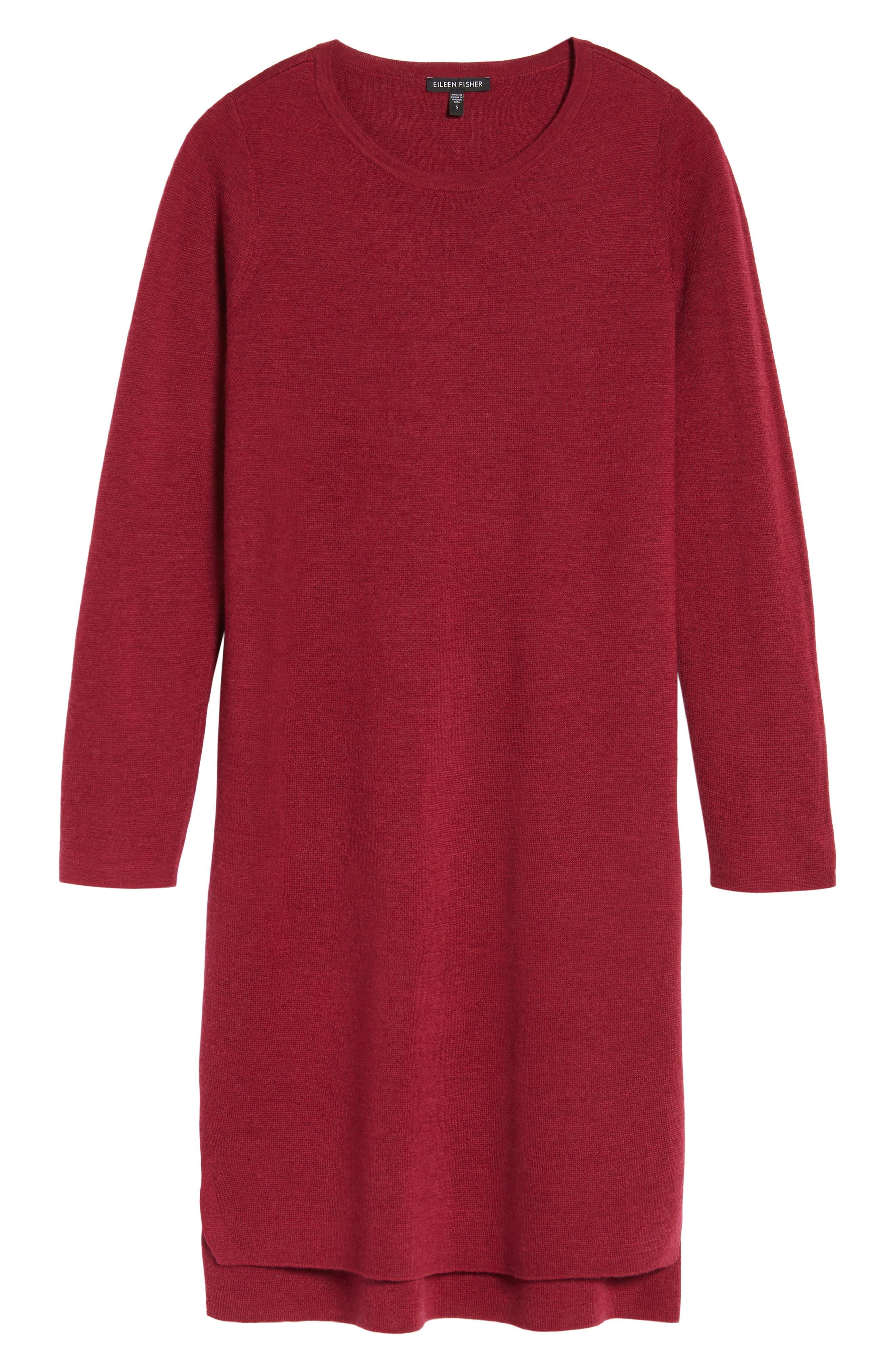 Merino Wool Sweater Dress,                             Alternate thumbnail 24, color,