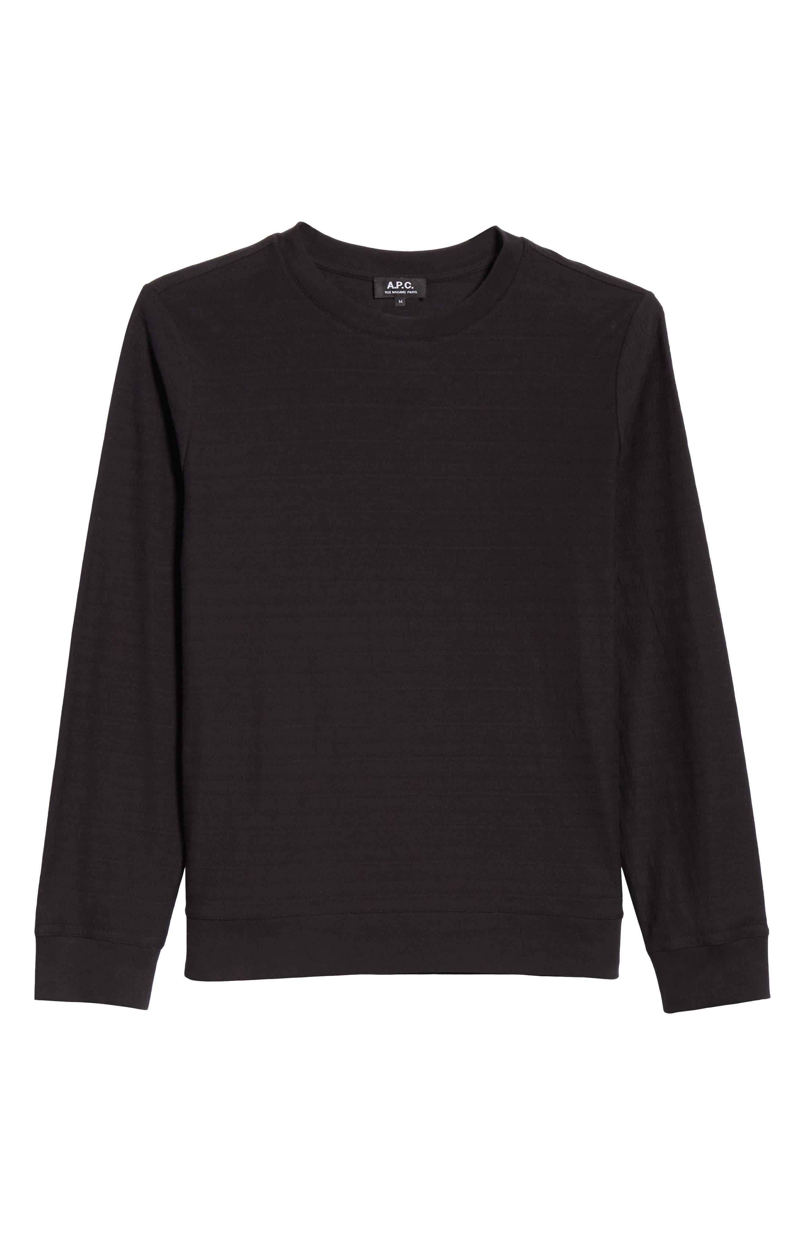 Jacquard Stripe Long Sleeve T-Shirt,                             Alternate thumbnail 6, color,                             062