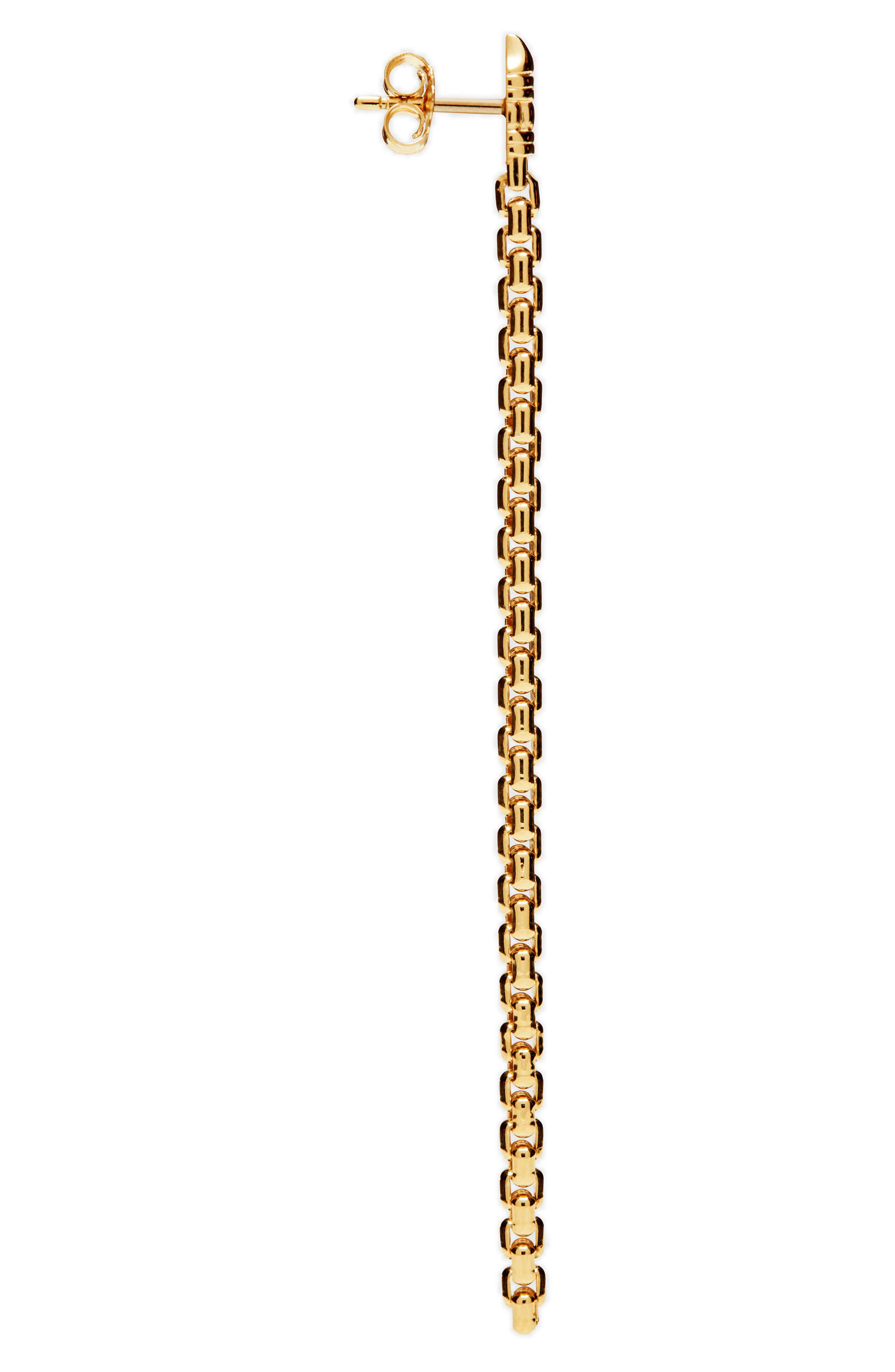 Venetian Chain Link Drop Earrings,                             Alternate thumbnail 3, color,                             040