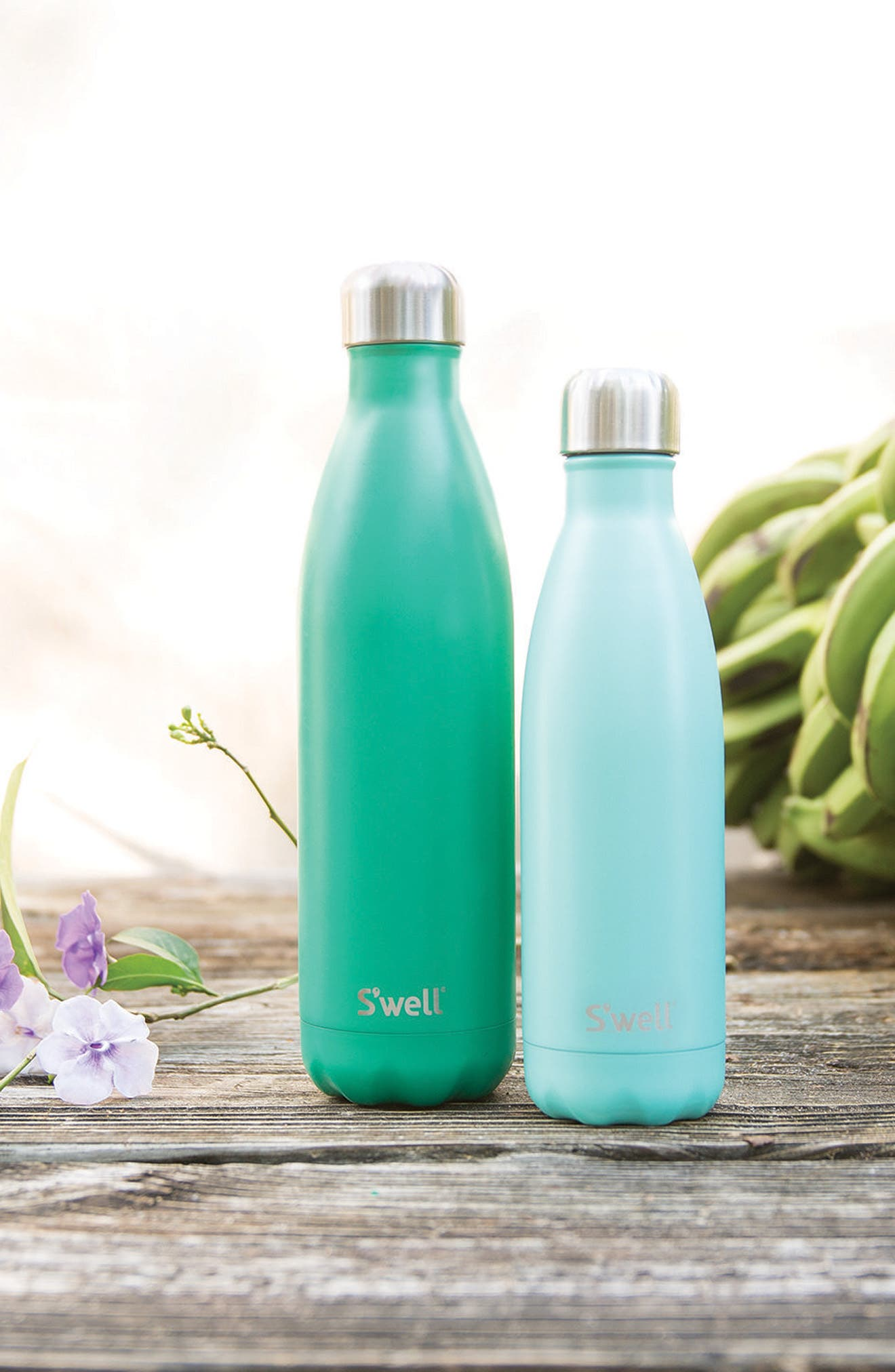 S'WELL,                             'Turquoise Blue' Stainless Steel Water Bottle,                             Alternate thumbnail 3, color,                             440
