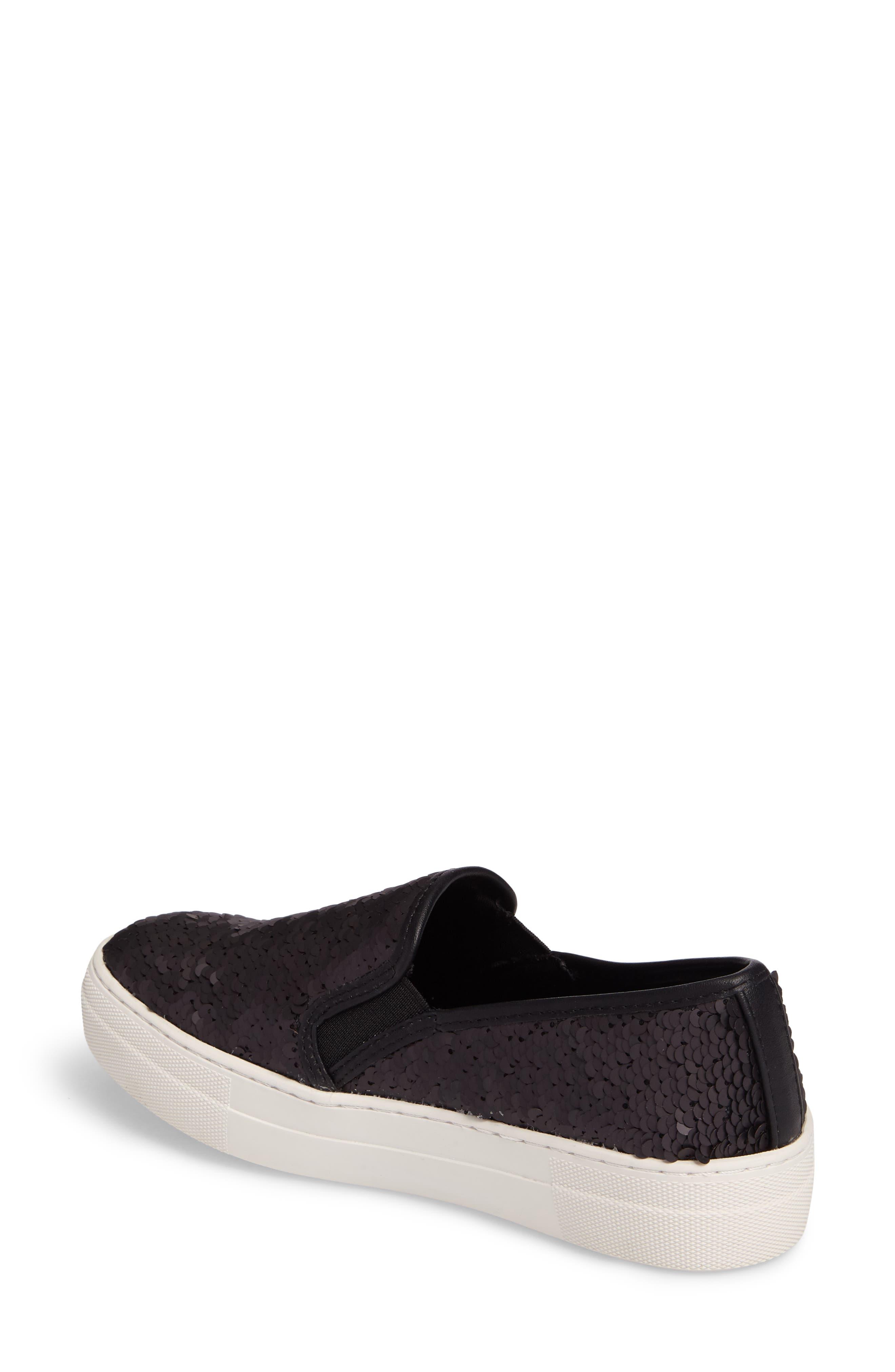 Gills Sequined Slip-On Platform Sneaker,                             Alternate thumbnail 2, color,                             001