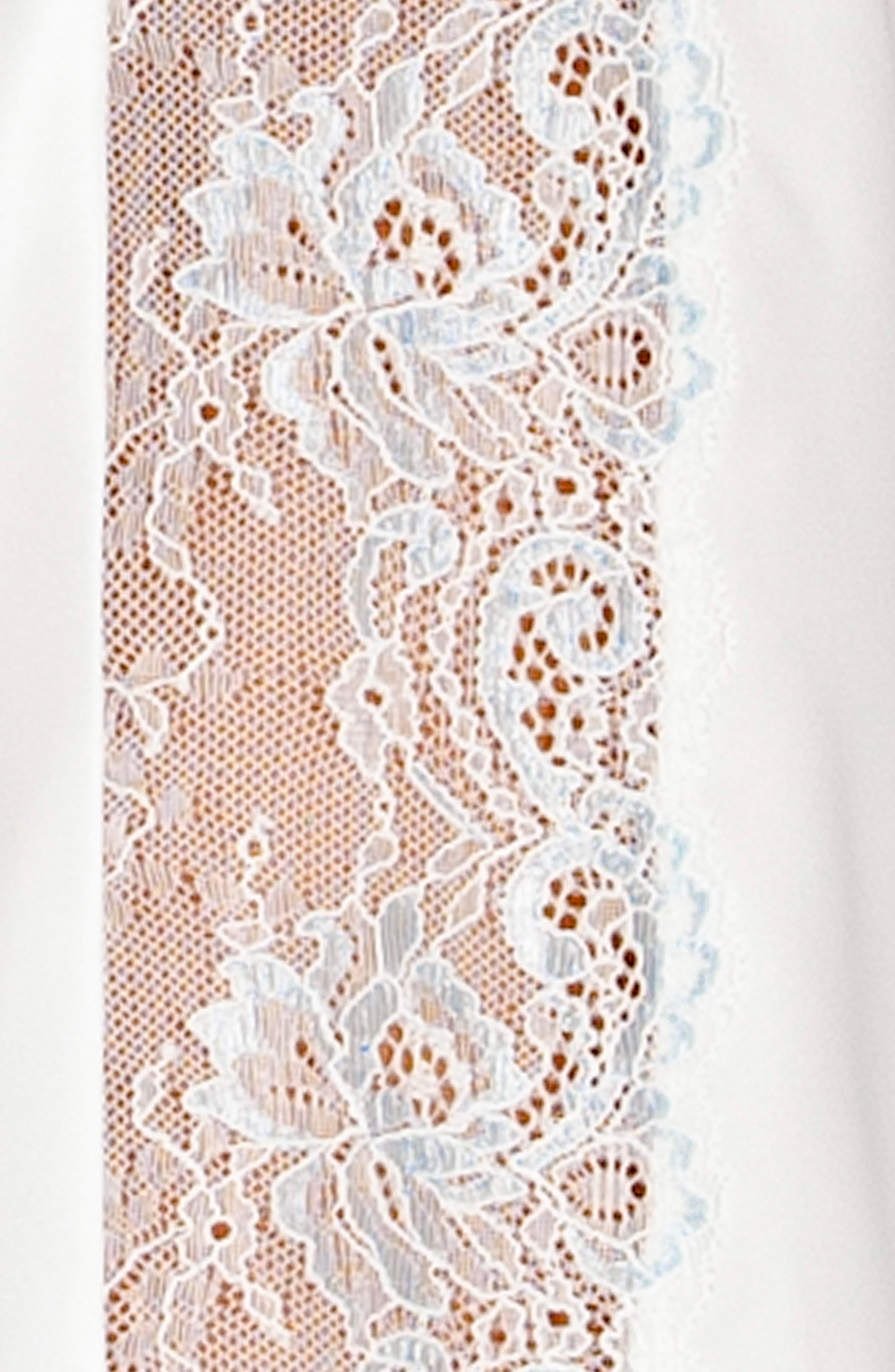 IN BLOOM BY JONQUIL,                             Lace & Satin Chemise,                             Alternate thumbnail 4, color,                             OFF-WHITE