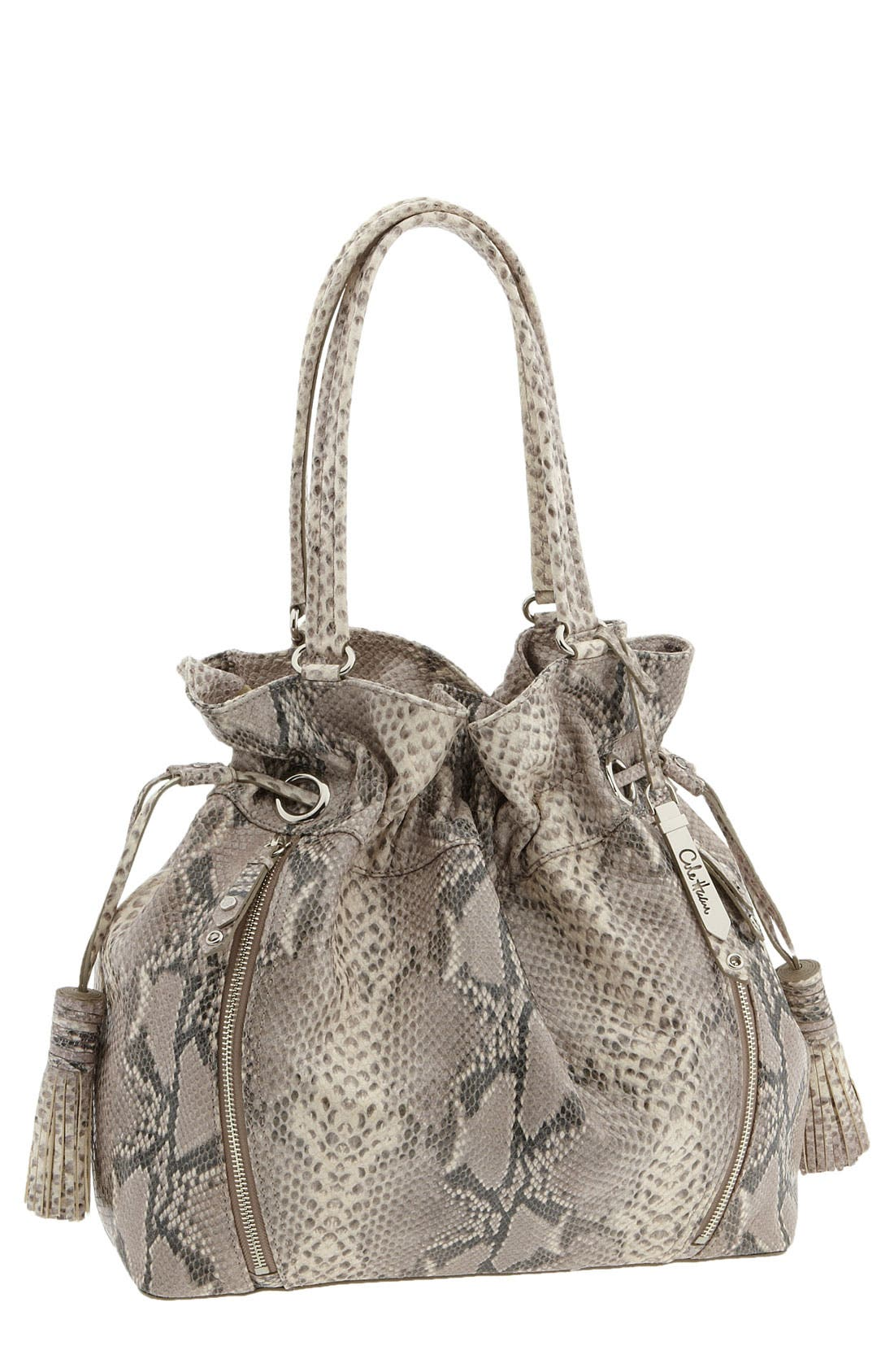 'Bailey' Pebbled Leather Drawstring Tote,                             Main thumbnail 6, color,