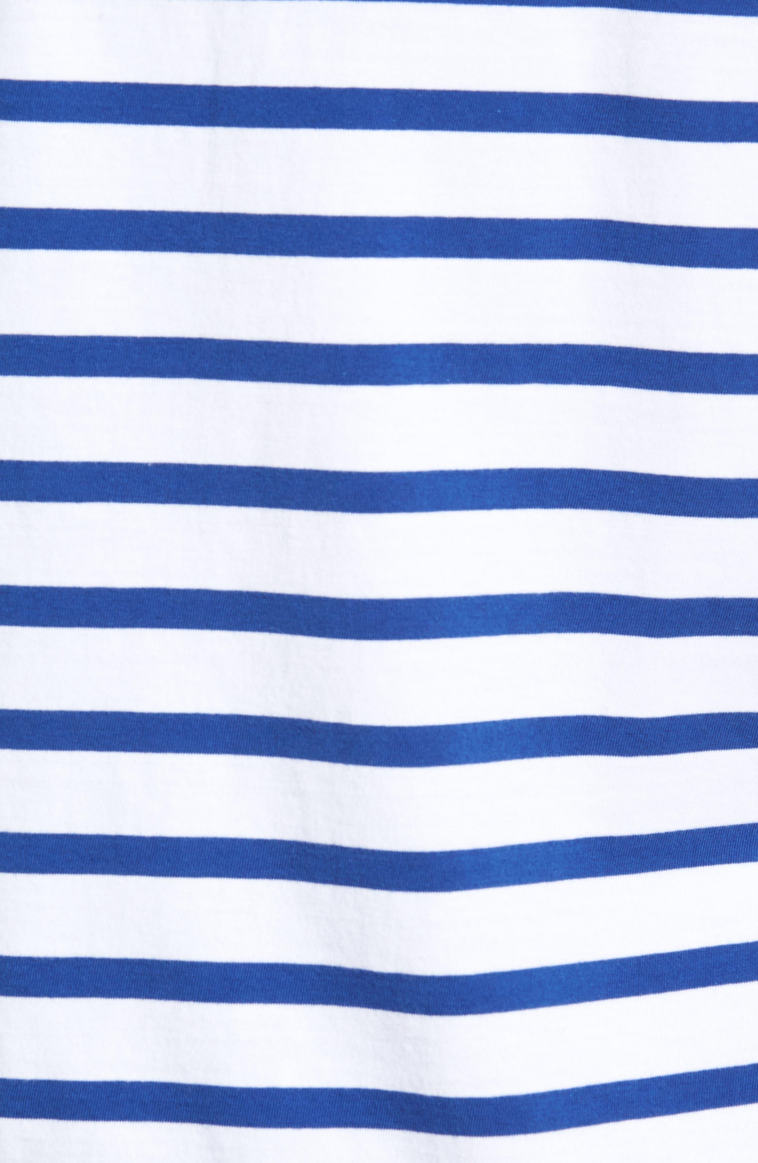 Striped Crewneck T-Shirt,                             Alternate thumbnail 5, color,                             420