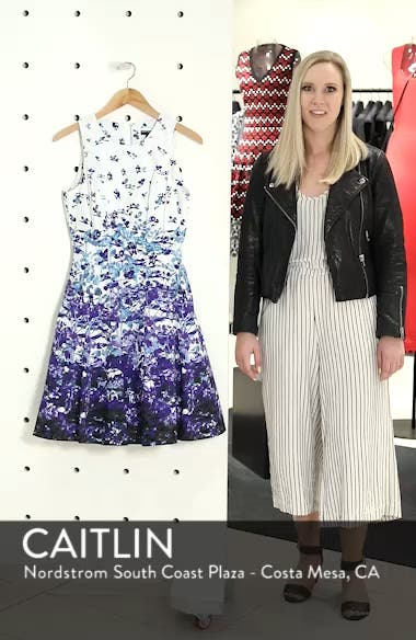 Floral Sateen Fit & Flare Dress, sales video thumbnail