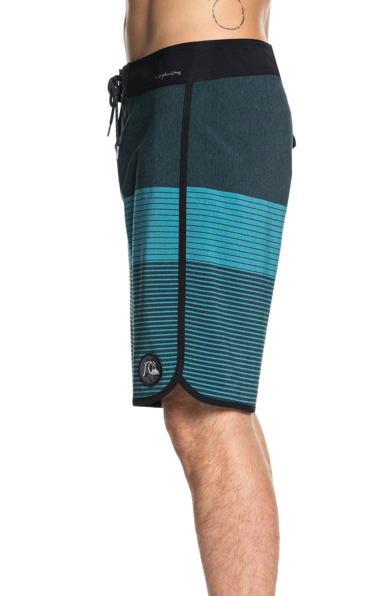 Highline Tijuana Scallop Board Shorts,                             Alternate thumbnail 3, color,                             TYPHOON