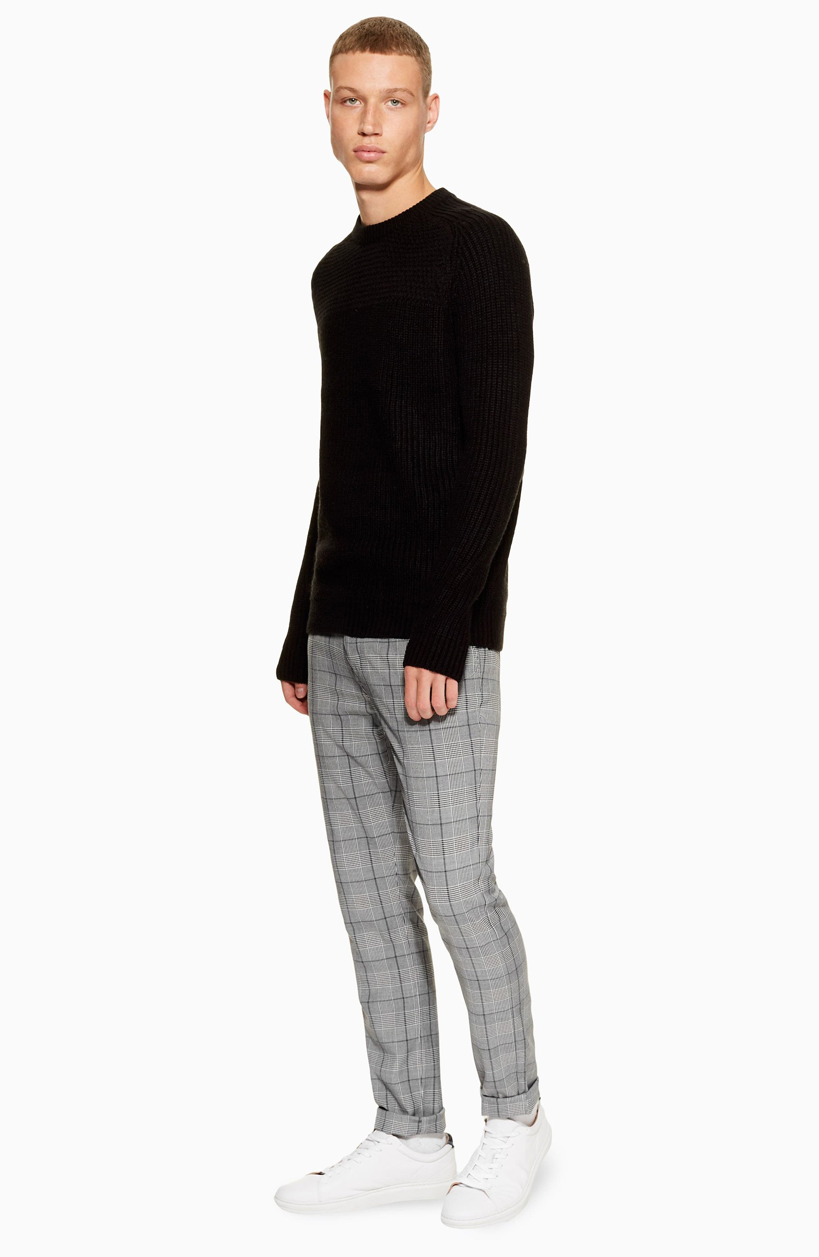 Stretch Skinny Fit Chinos,                             Alternate thumbnail 4, color,                             GREY MULTI