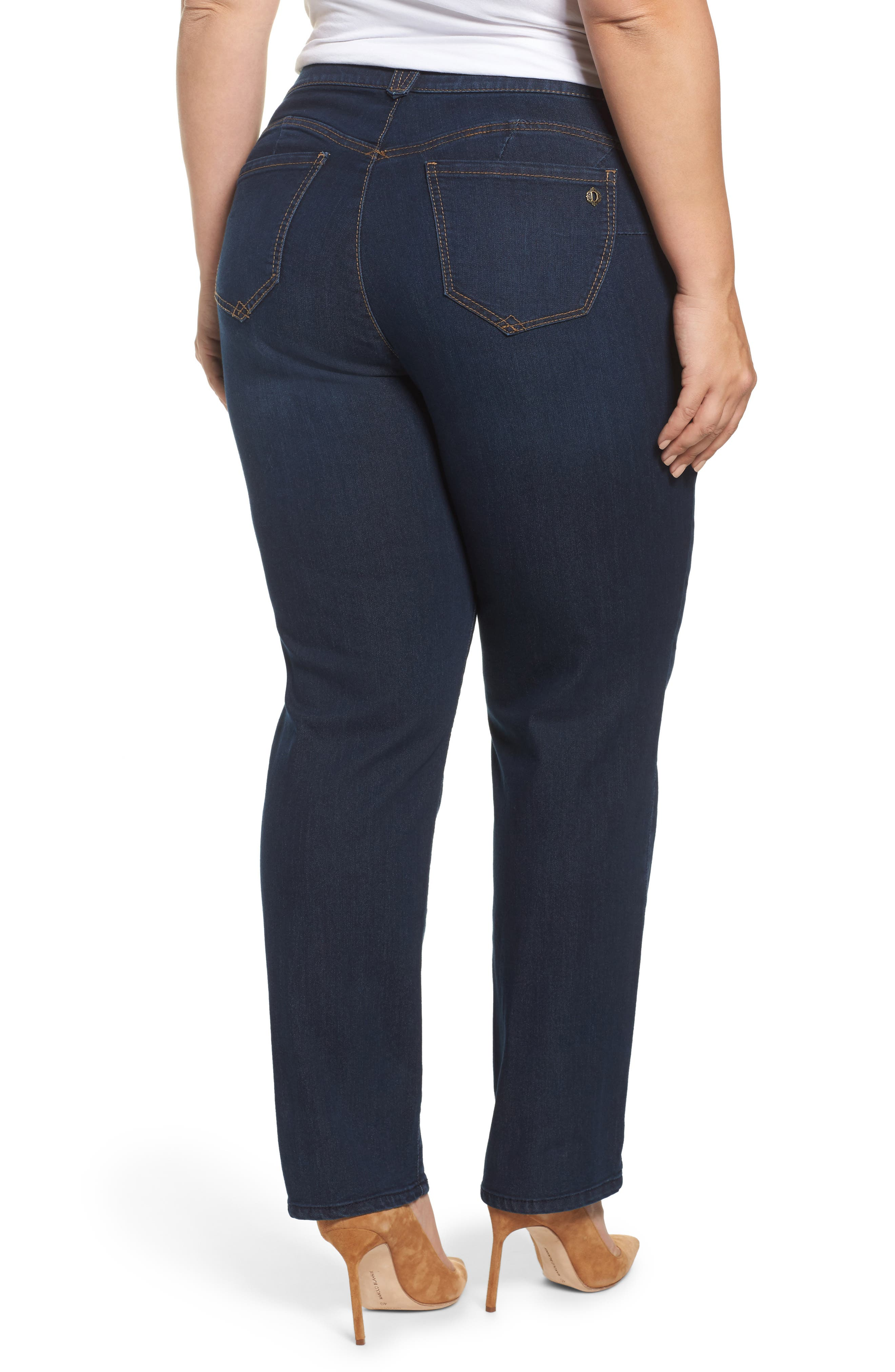 Ab-Solution Stretch Straight Leg Jeans,                             Alternate thumbnail 2, color,                             INDIGO