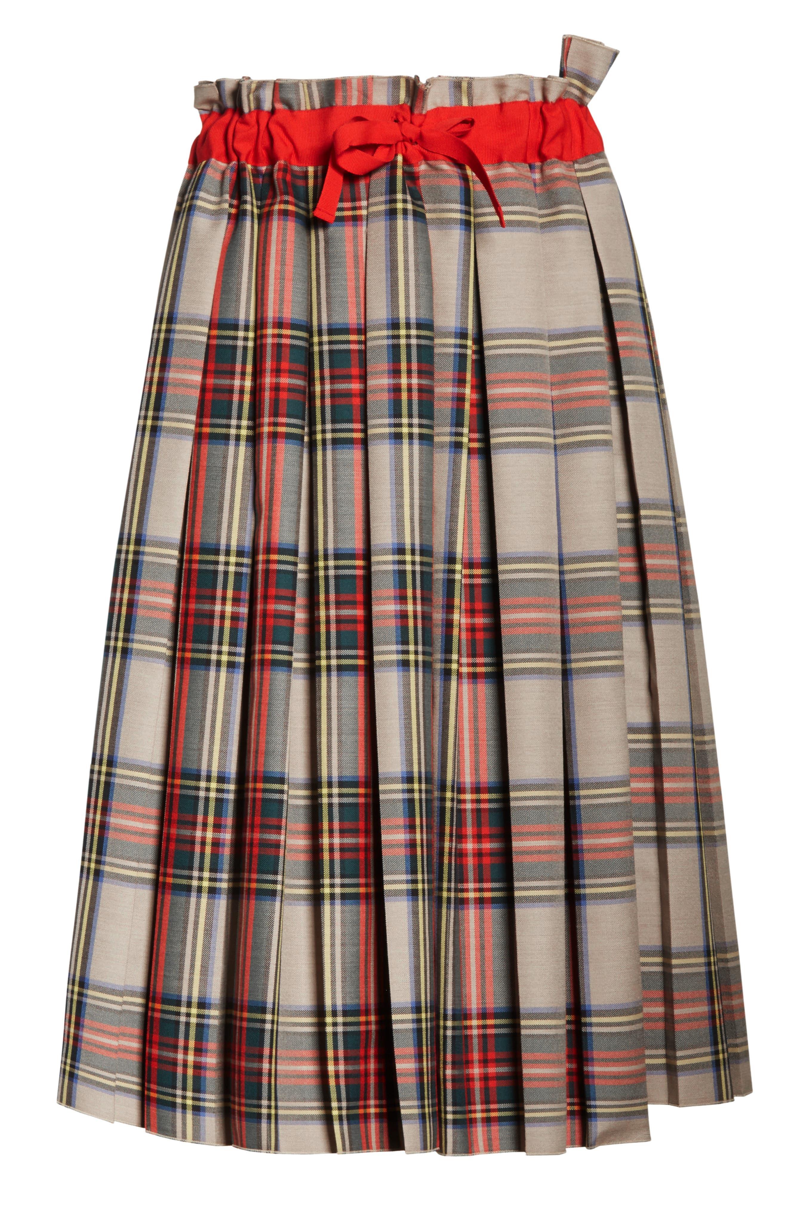 Pleated Technical Gabardine Skirt,                             Alternate thumbnail 6, color,                             250