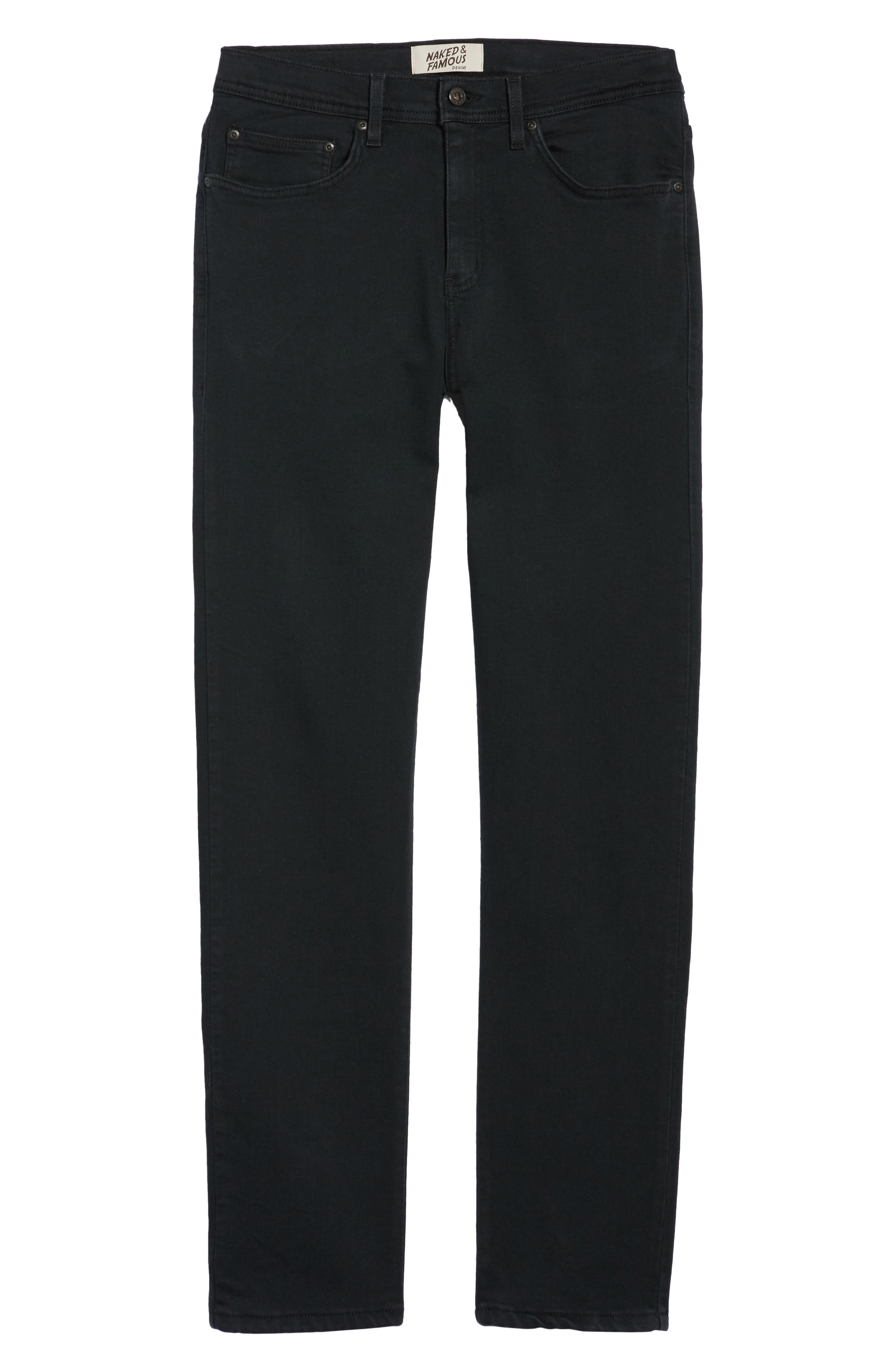 Weird Guy Slim Fit Jeans,                             Alternate thumbnail 6, color,                             BLACK