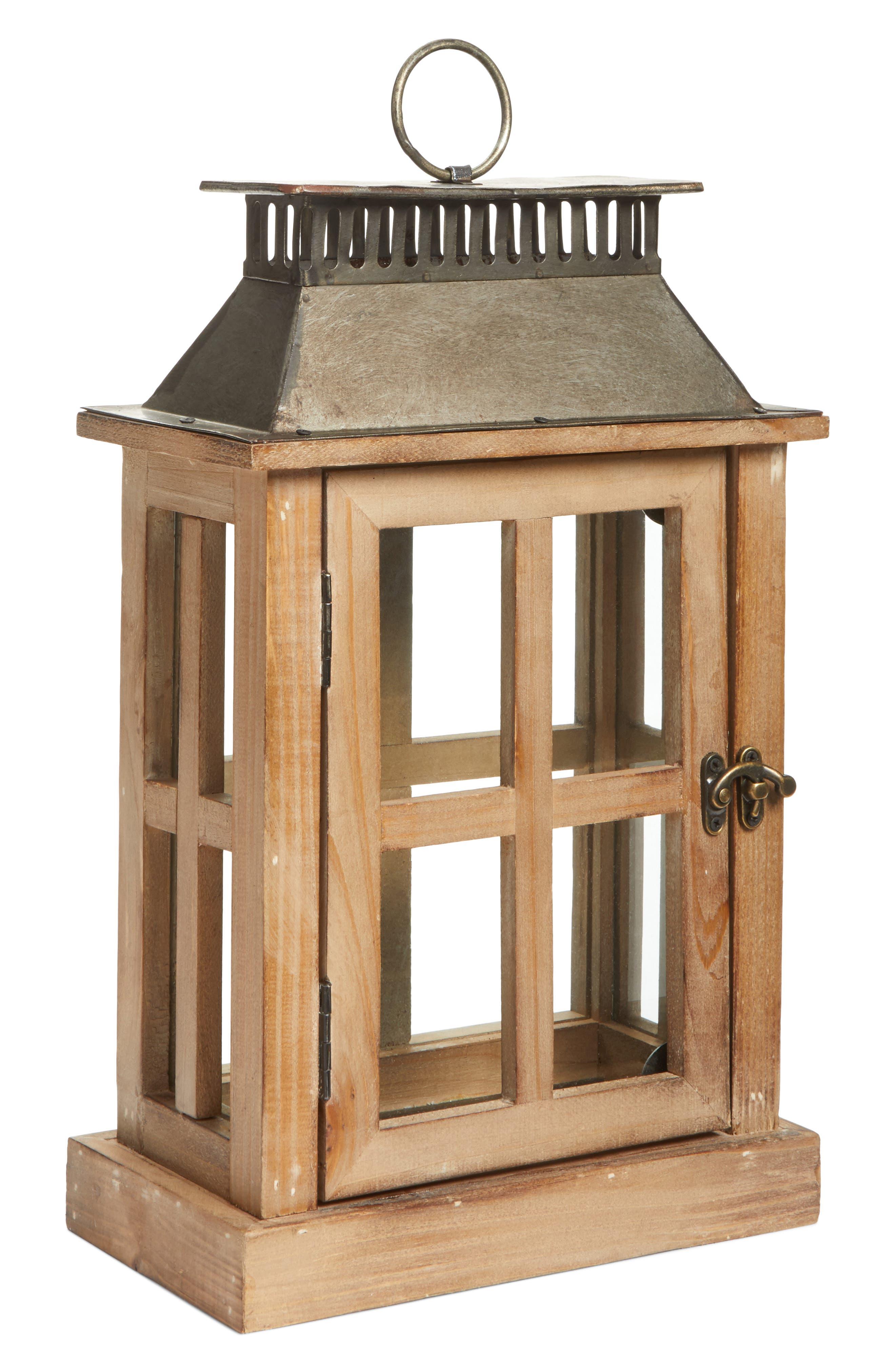 Decorative Wood & Metal Lantern,                             Alternate thumbnail 3, color,                             200