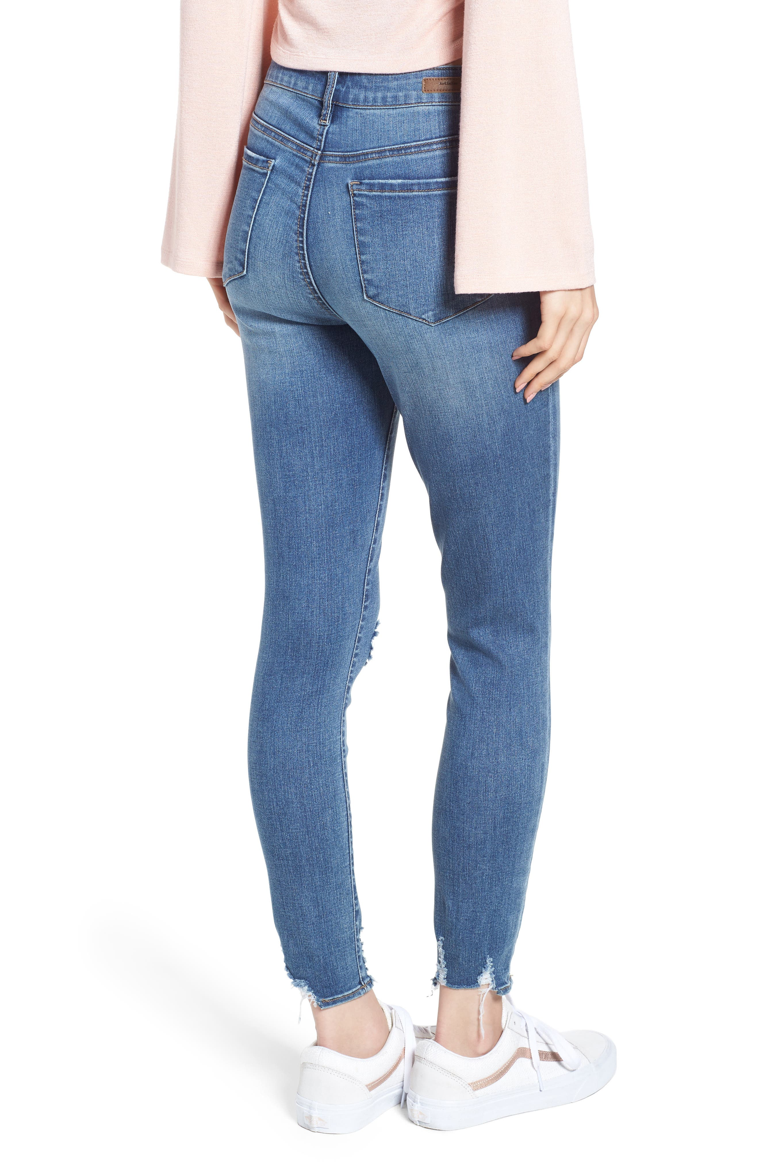Heather High Waist Distressed Skinny Jeans,                             Alternate thumbnail 2, color,                             453