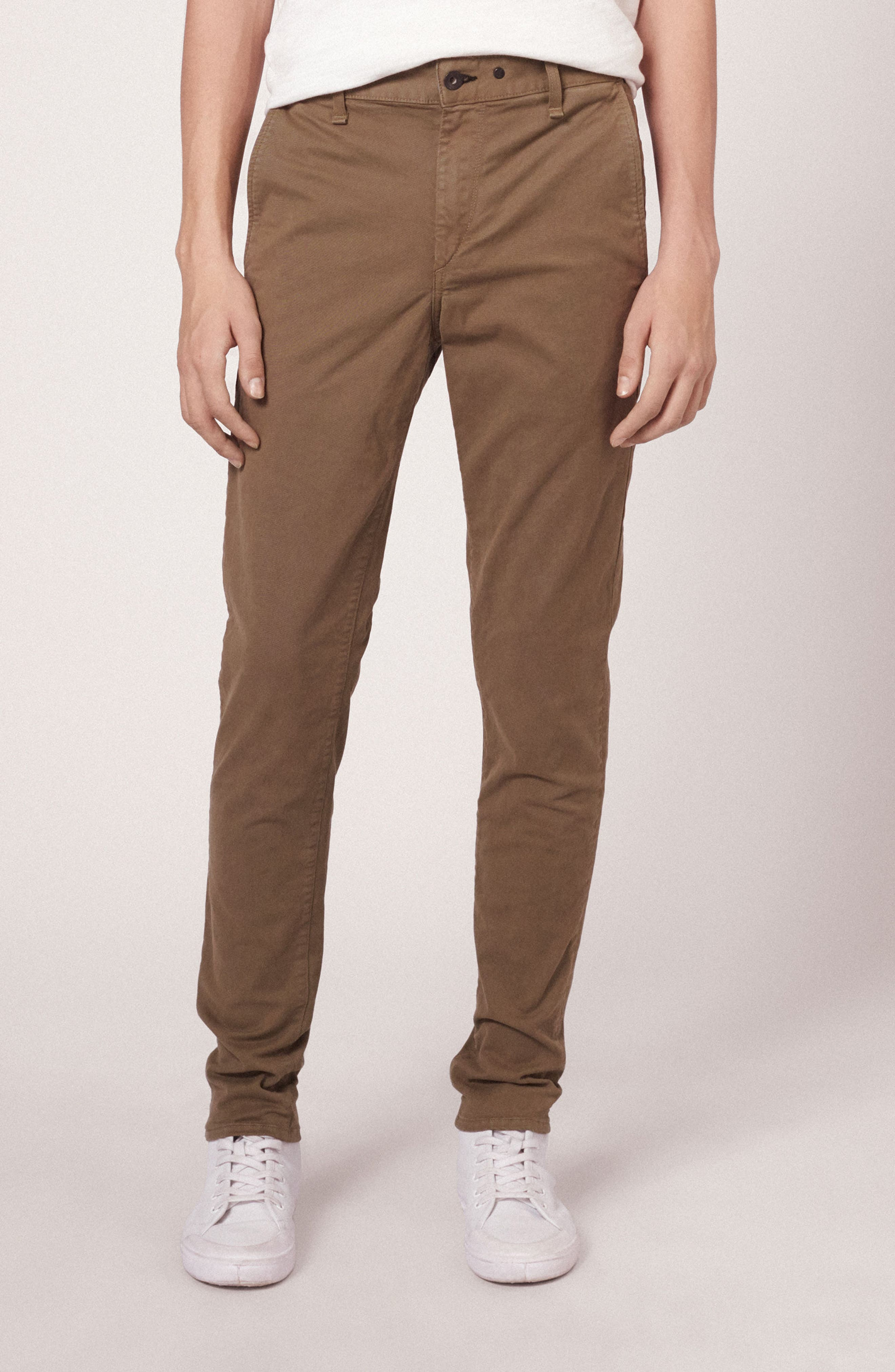 Fit 1 Chinos,                             Alternate thumbnail 7, color,                             ARMY GREEN
