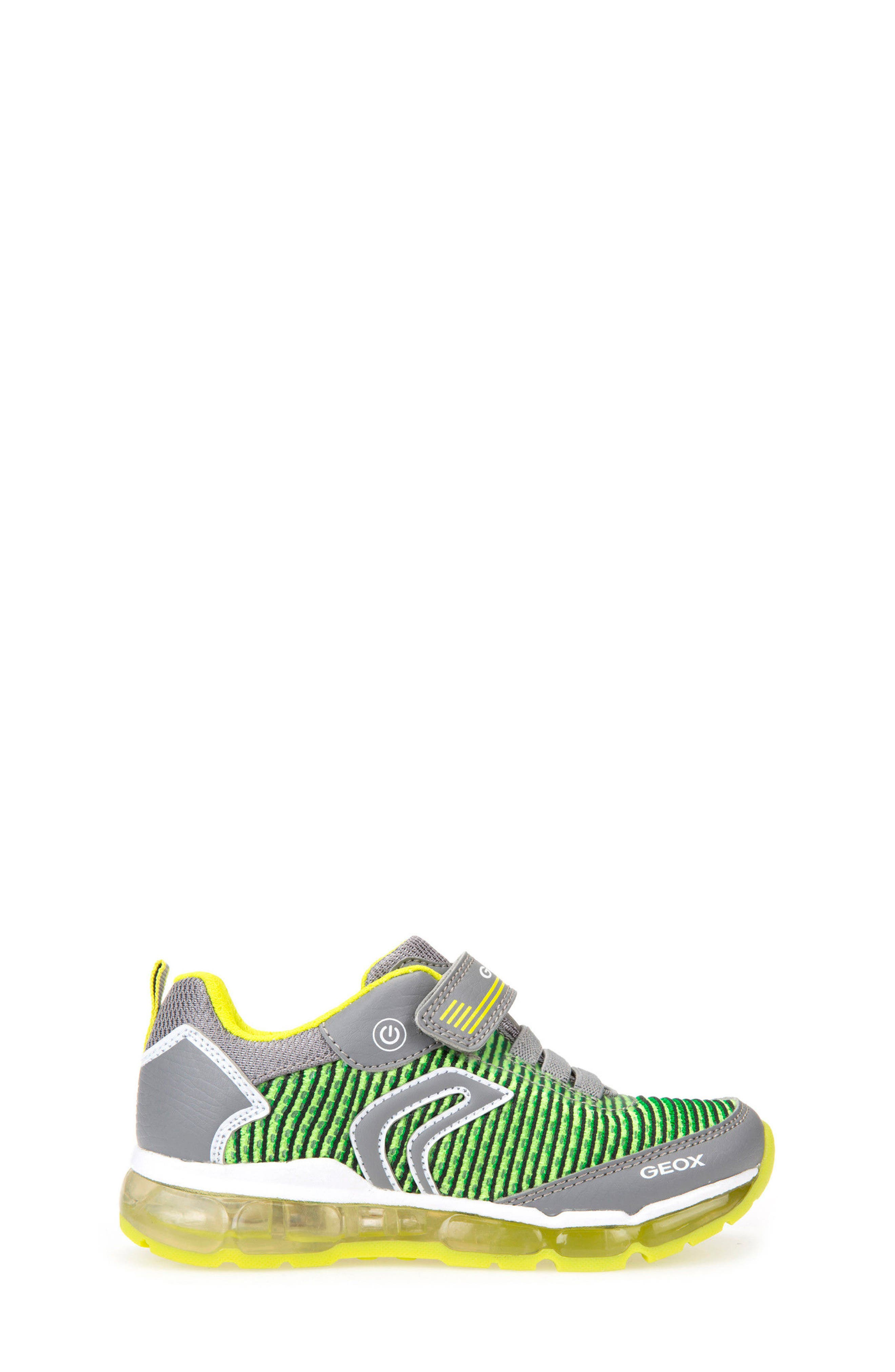 Android Light-Up Sneaker,                             Alternate thumbnail 3, color,                             GREY/ LIME