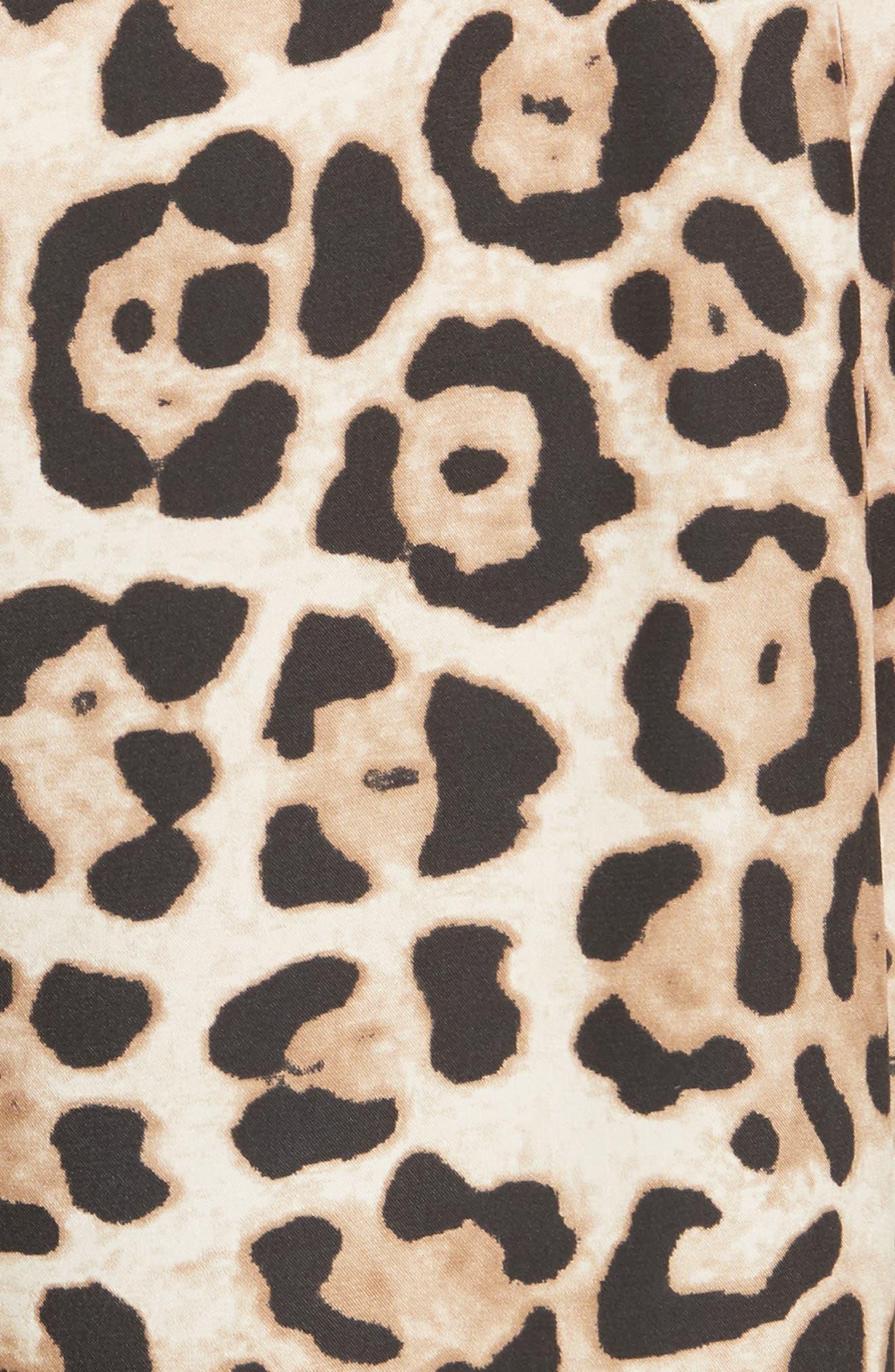 ATM ANTHONY THOMAS MELILLO,                             Leopard Print Silk Pants,                             Alternate thumbnail 5, color,                             LEOPARD PRINT