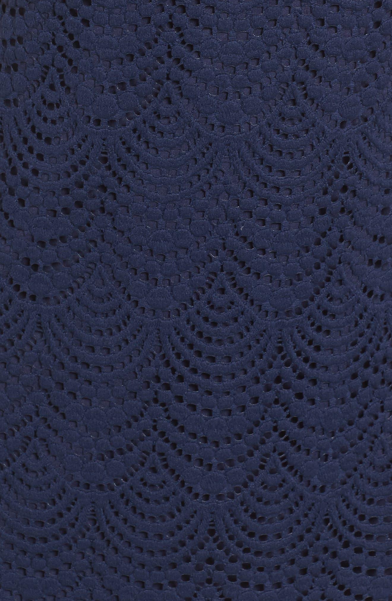 Jade Lace Off the Shoulder Dress,                             Alternate thumbnail 5, color,                             408