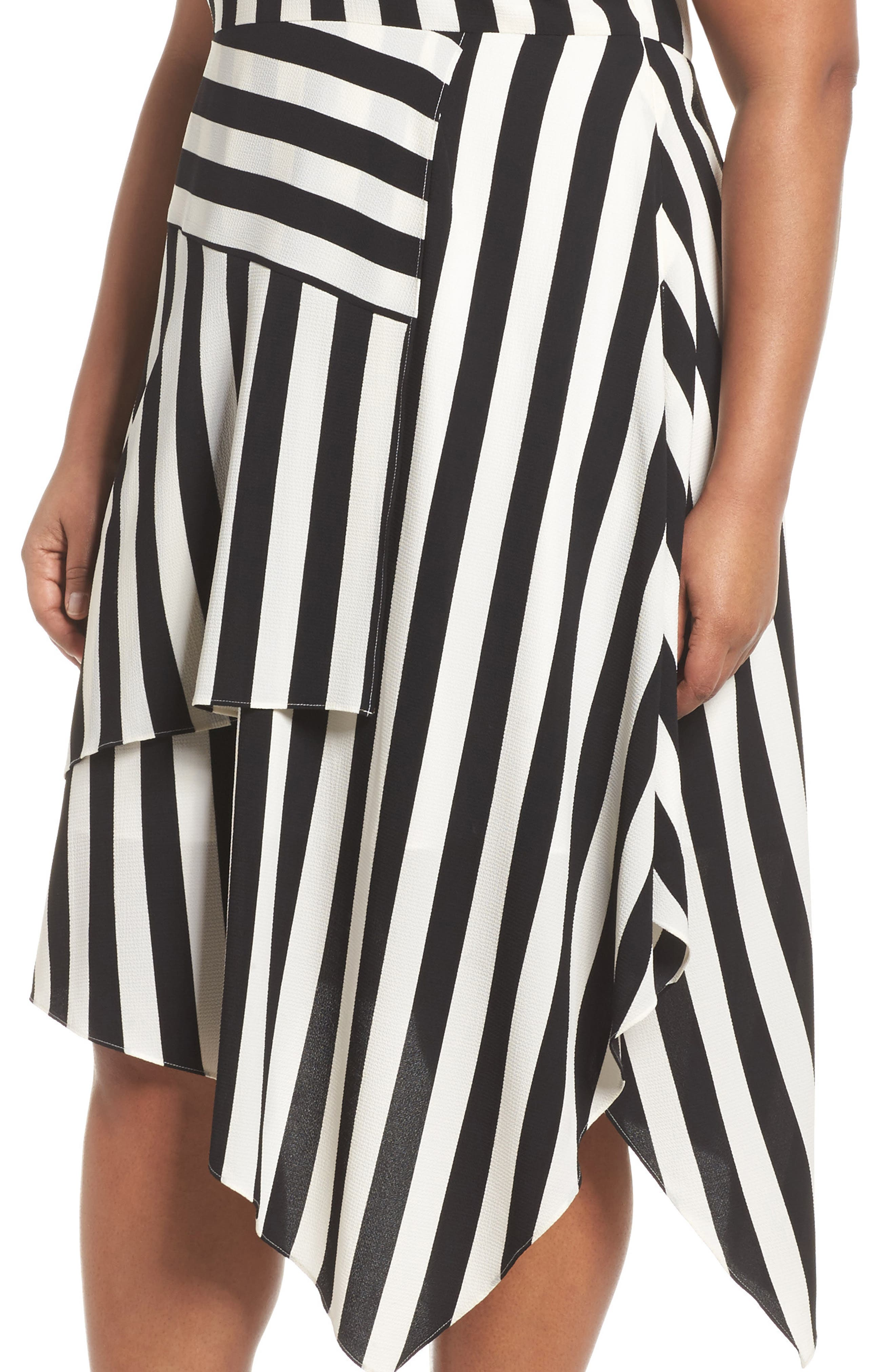 Spectator Asymmetrical Hem Dress,                             Alternate thumbnail 4, color,                             RICH BLACK