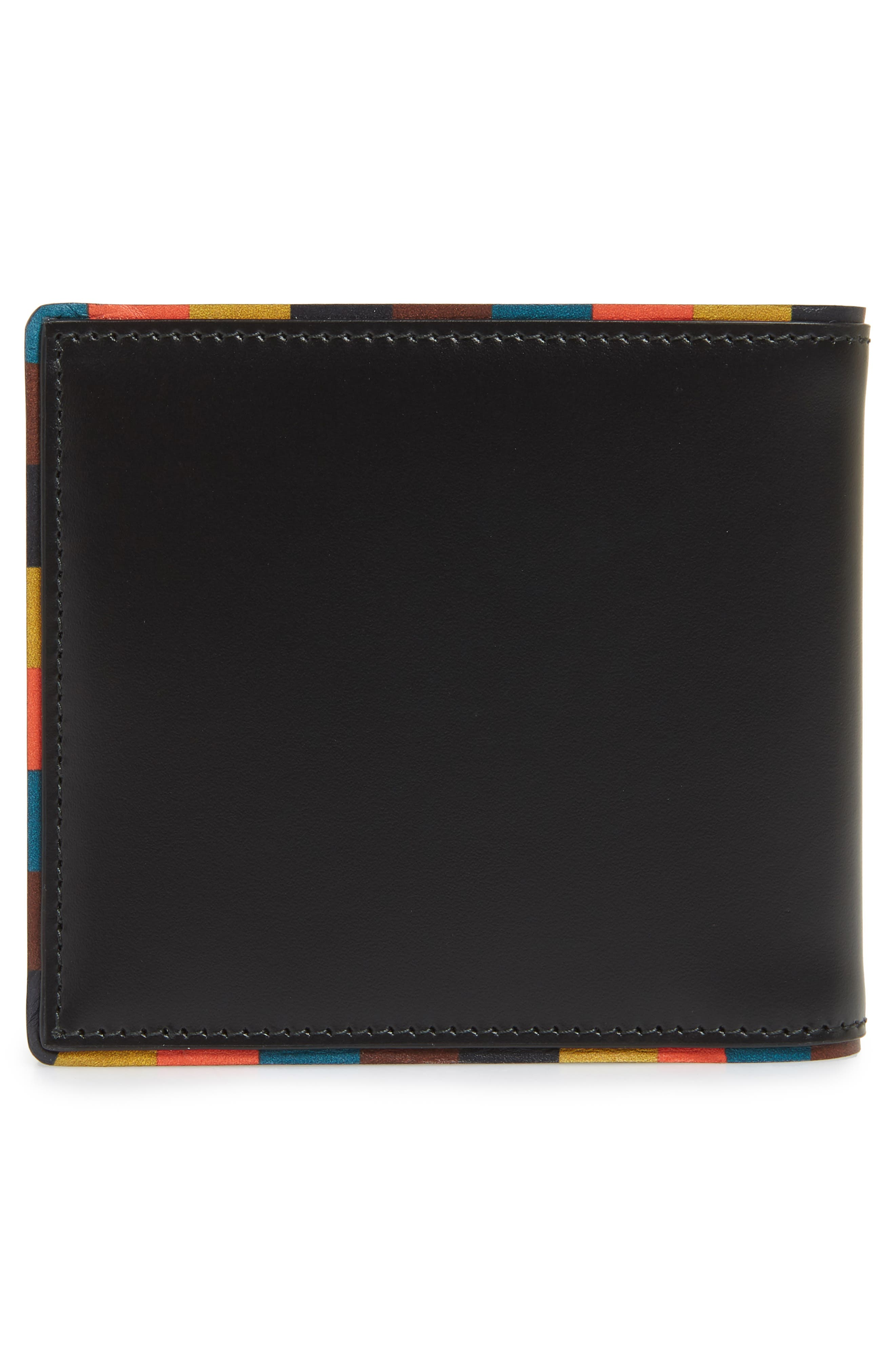 PAUL SMITH,                             Leather Billfold Wallet,                             Alternate thumbnail 3, color,                             001