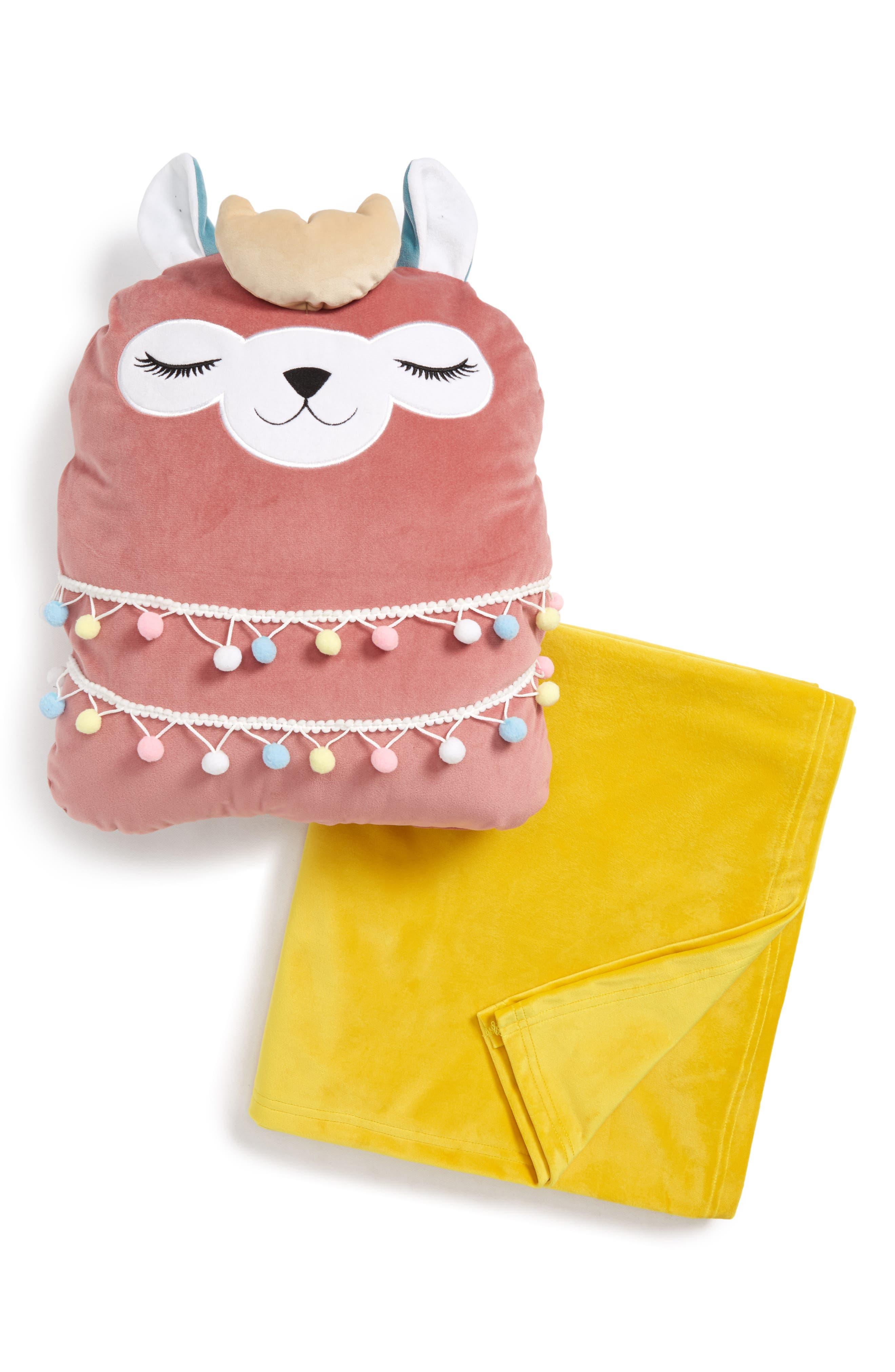 Llama Throw & Pillow Set,                         Main,                         color, LLAMA