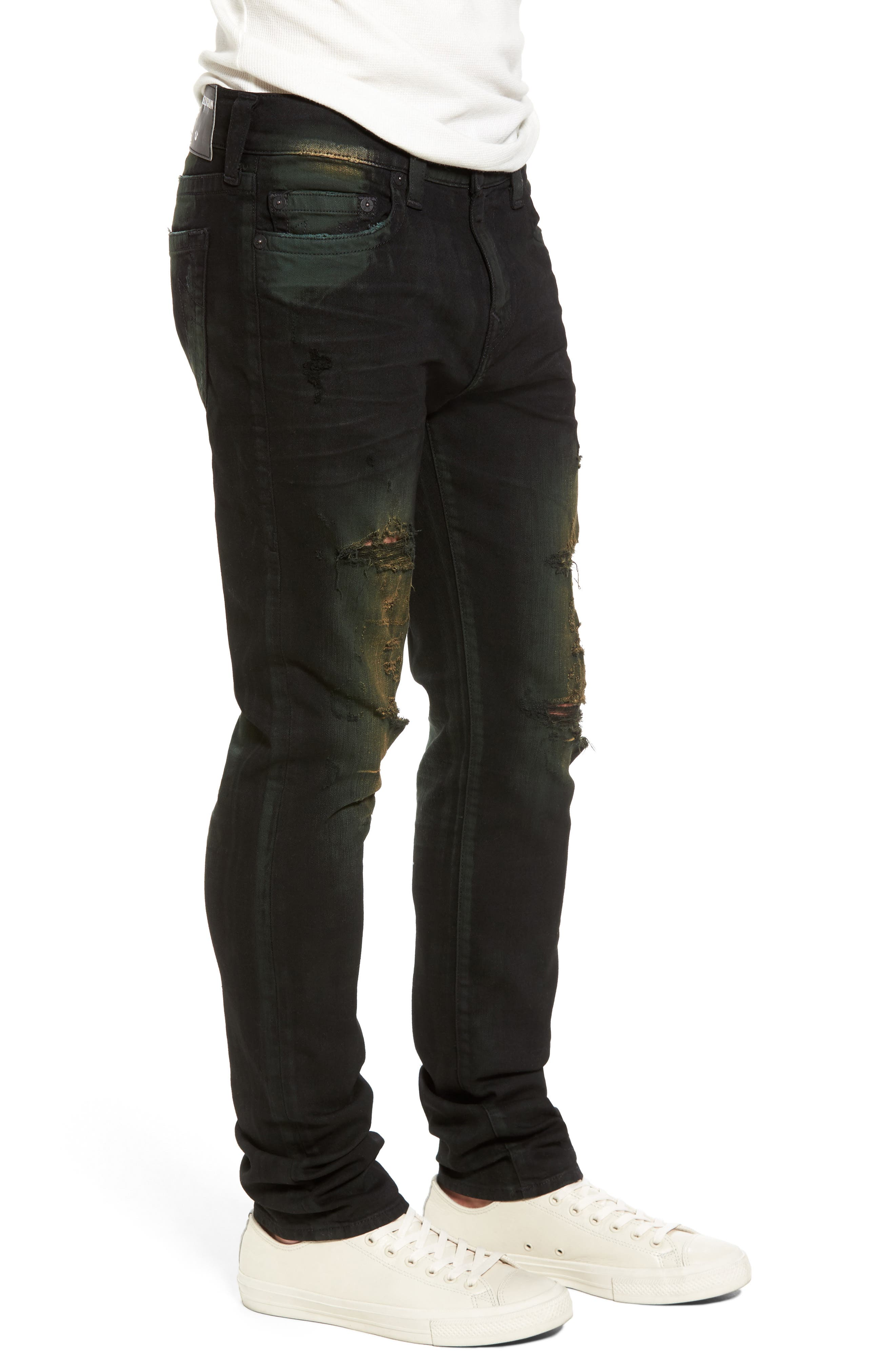 Rocco Skinny Fit Jeans,                             Alternate thumbnail 3, color,                             GREEN BLAZE