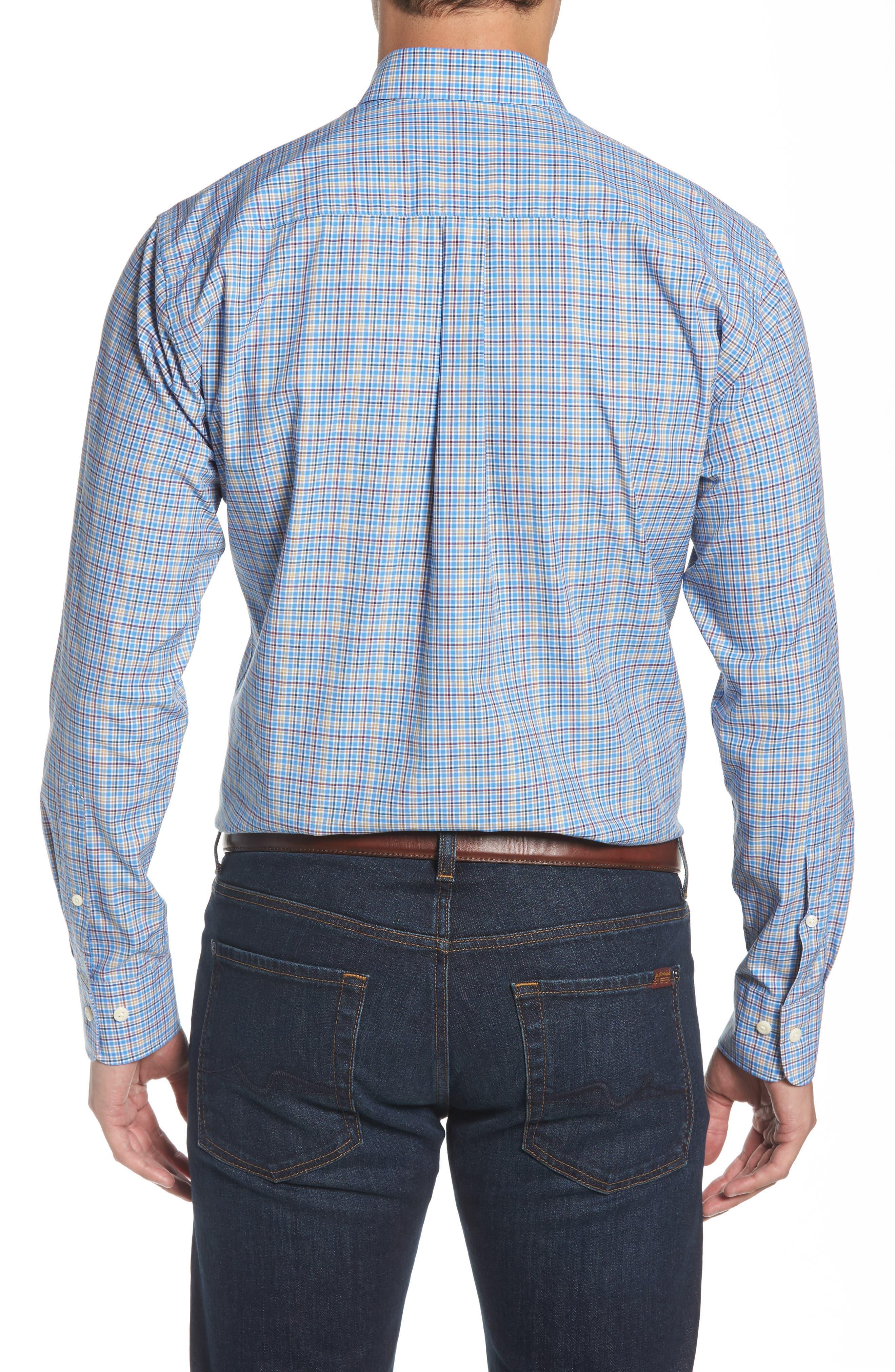 Fremont Regular Fit Multicheck Sport Shirt,                             Alternate thumbnail 2, color,                             485