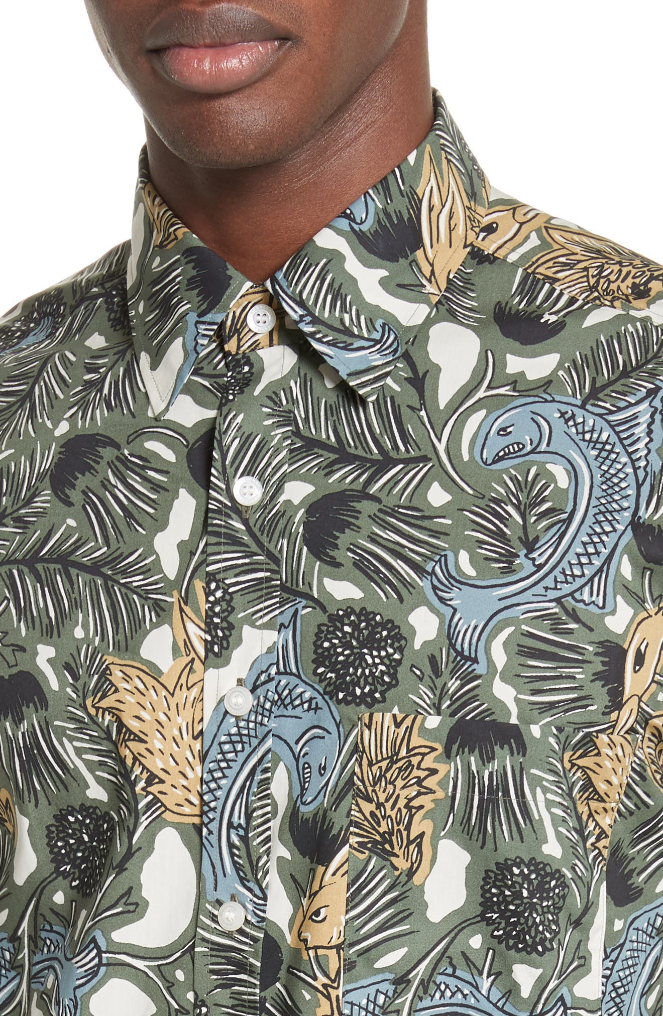 Whinfell Beasts Cotton Sport Shirt,                             Alternate thumbnail 4, color,                             305