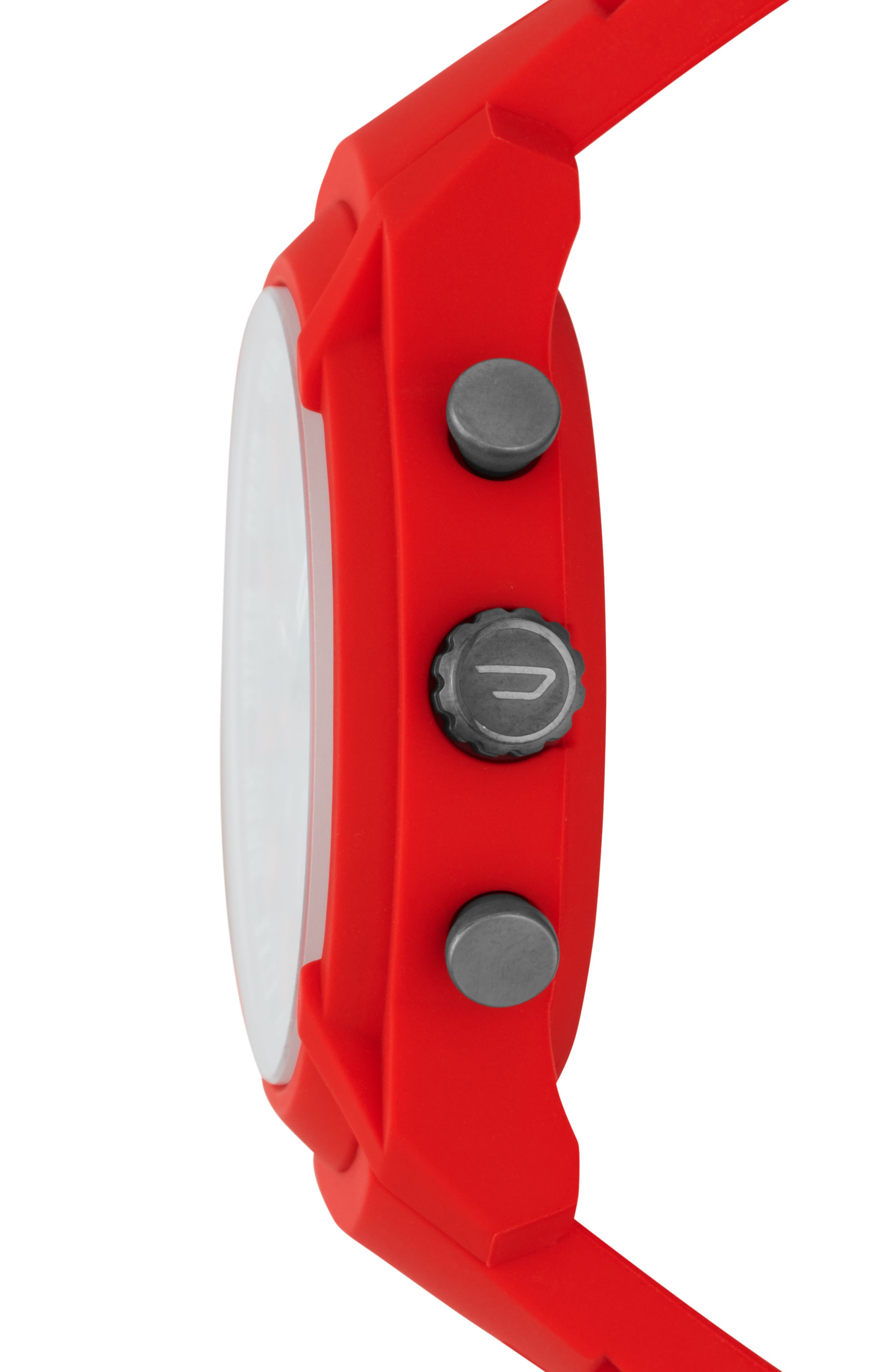 Armbar Hybrid Silicone Strap Smart Watch, 44mm,                             Alternate thumbnail 2, color,                             BLACK/ RED
