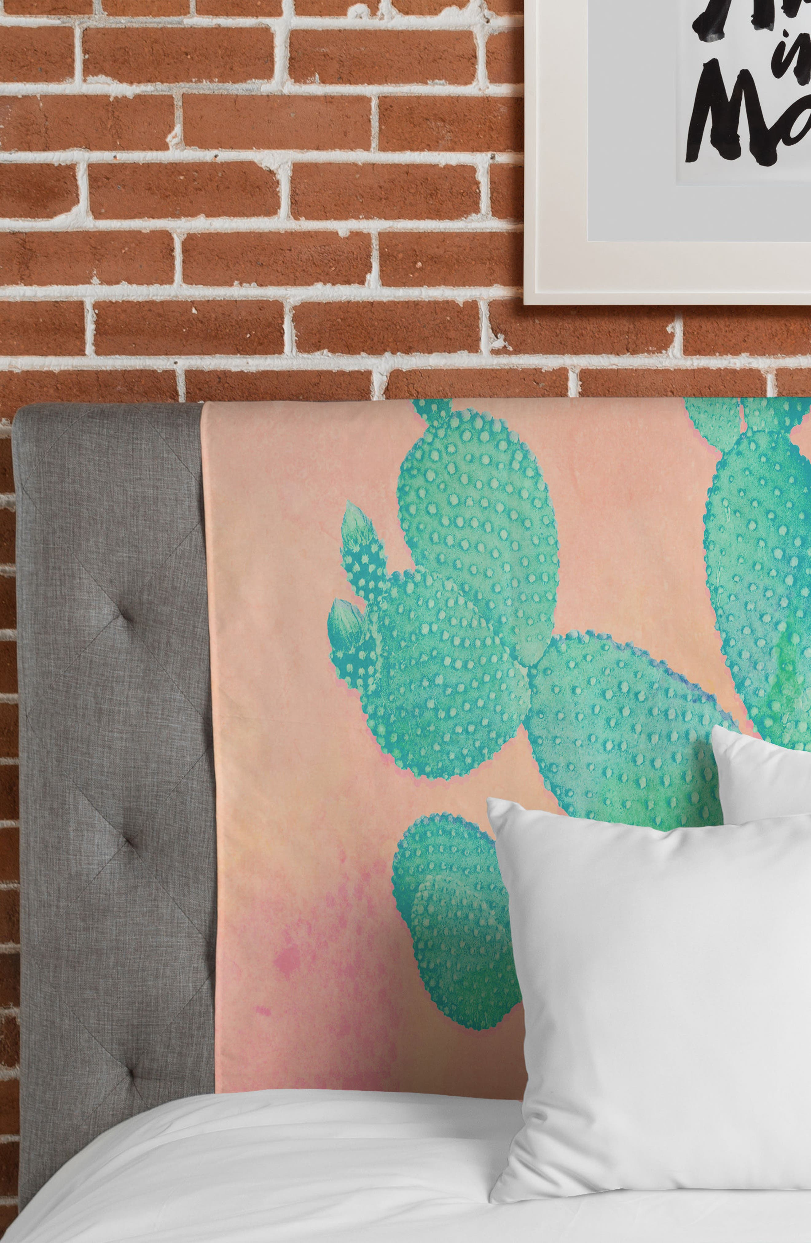 Pastel Cactus Tapestry,                             Alternate thumbnail 3, color,