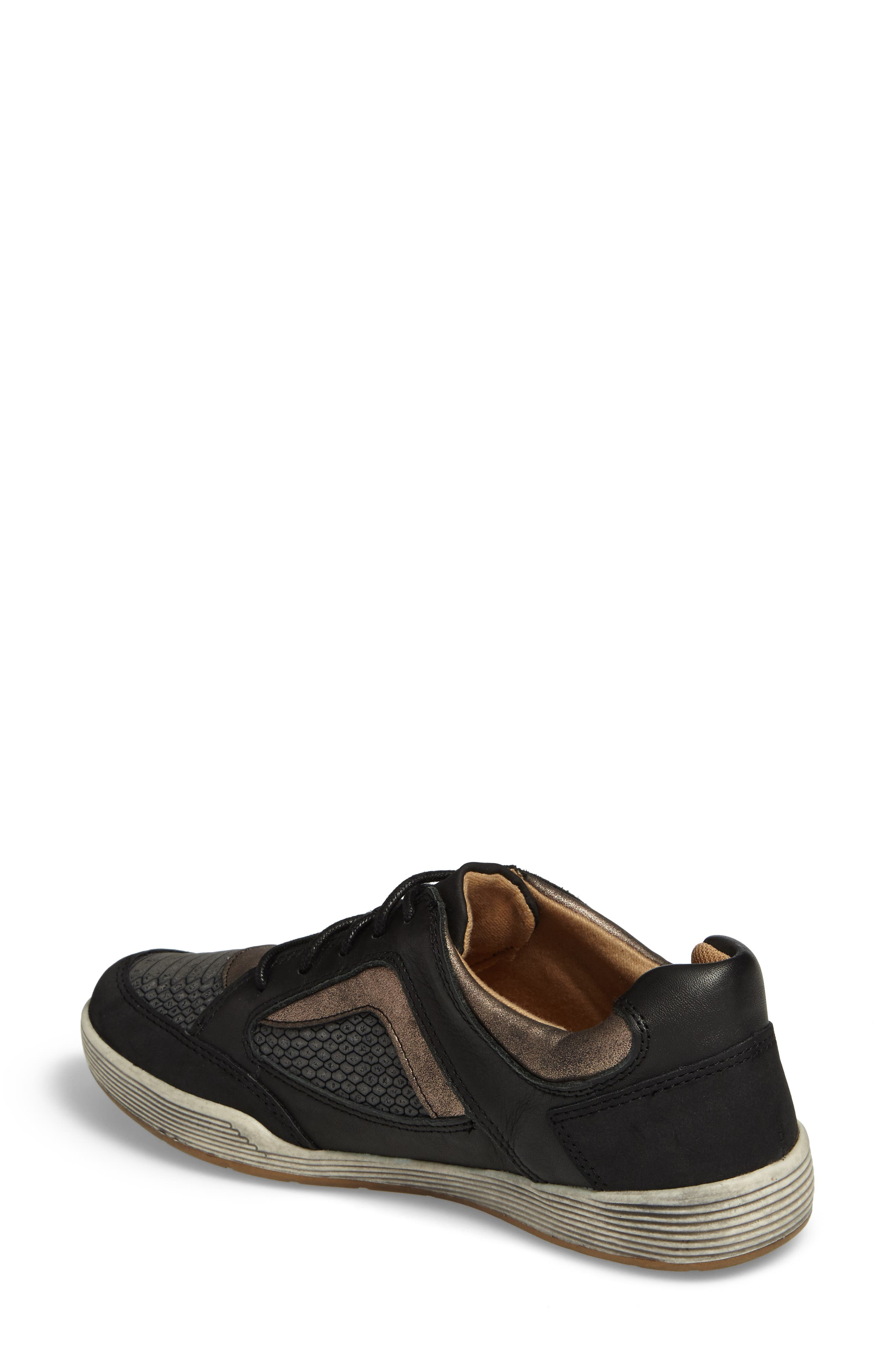 Lemont Snake Embossed Sneaker,                             Alternate thumbnail 2, color,                             BLACK SNAKE PRINT LEATHER